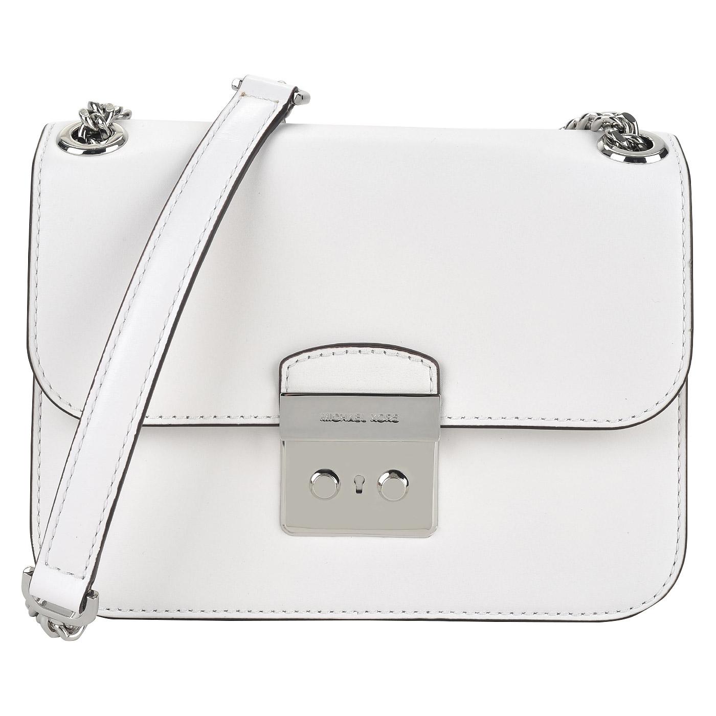 3120725e1db5 ... Женская кожаная сумочка на цепочке через плечо Michael Kors Sloan Editor  ...
