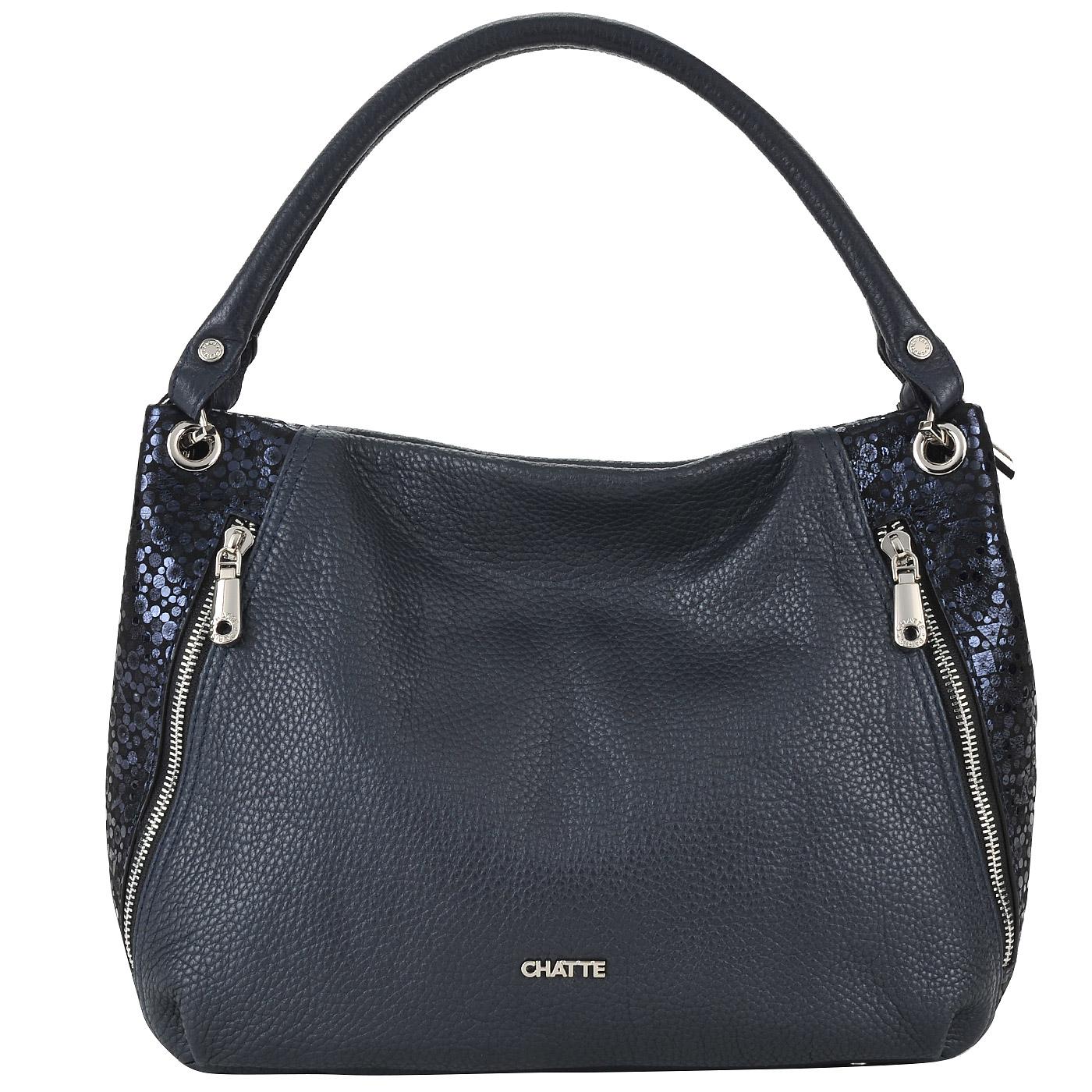 Вместительная женская сумка из натуральной кожи и замши Chatte ... 8554575468c