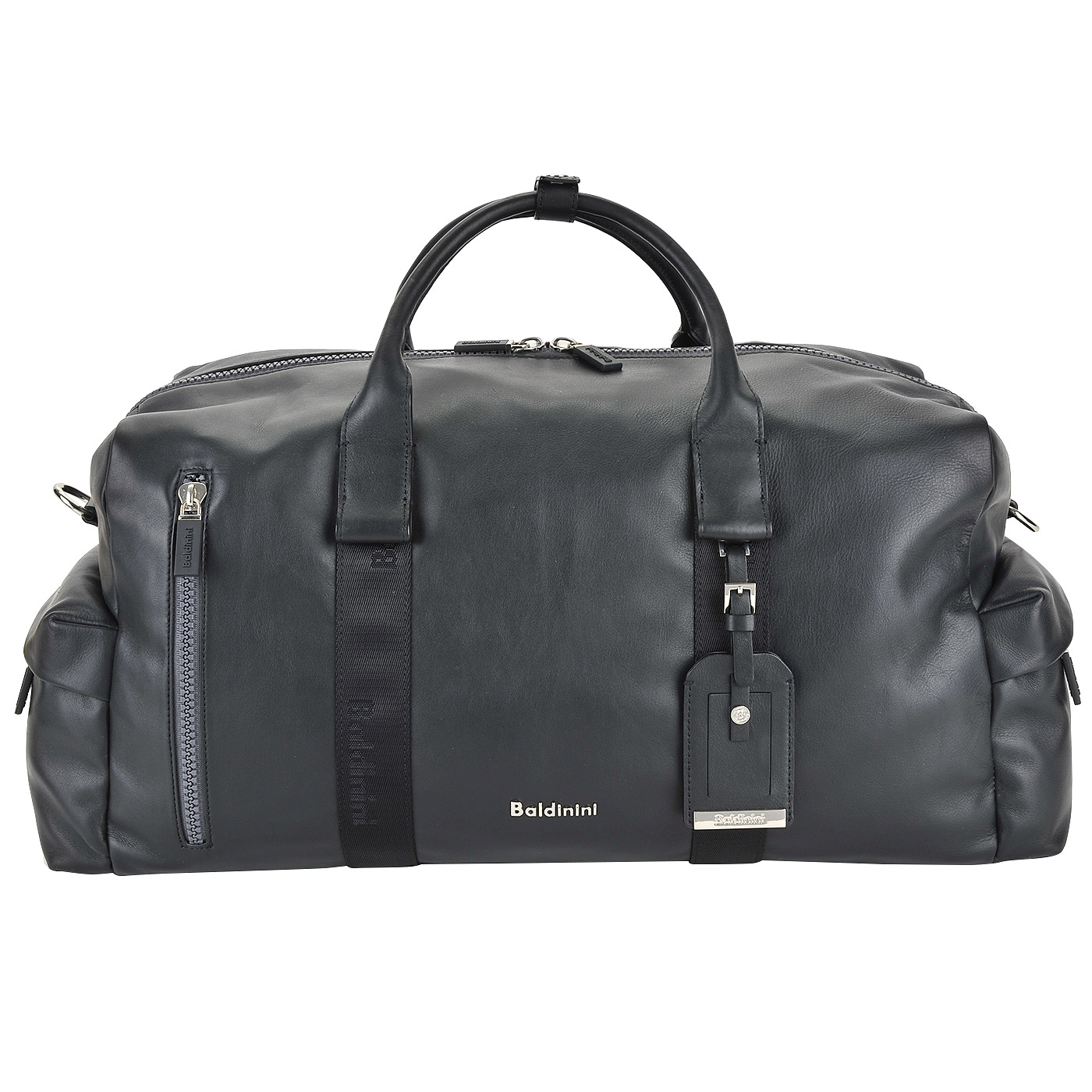 acc2bd194304 ... Мужская кожаная дорожная сумка со съемным плечевым ремешком Baldinini  Yuri ...