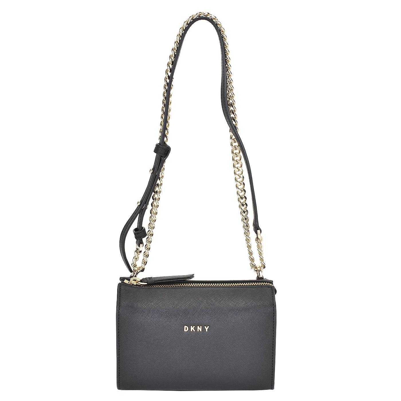 76d2f0462774 Женская кожаная сумка через плечо DKNY Saffiano R361140204-001 ...