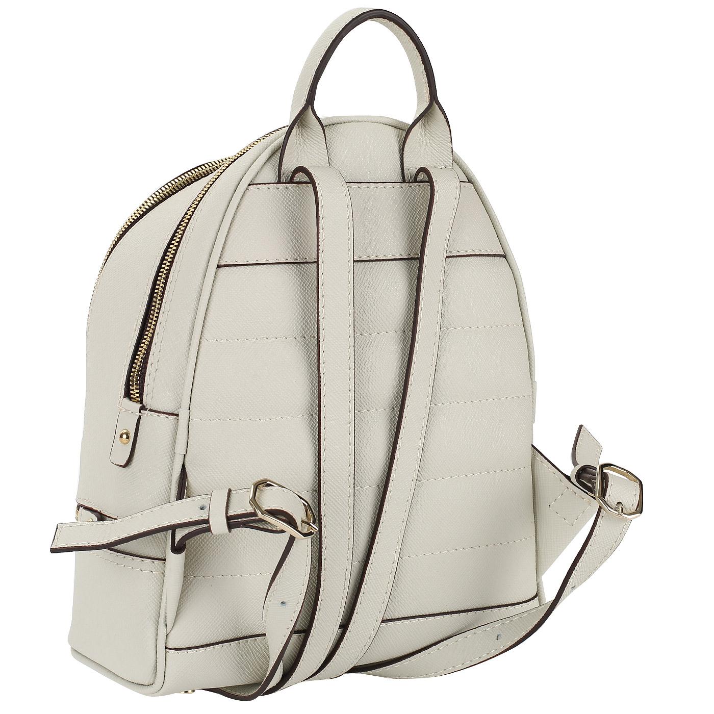 b5c51b16d12a Практичный и компактный женский городской рюкзак из натурального сафьяна,  устойчивого к влаге, царапинам и пятнам, послужит неплохой заменой  небольшой ...