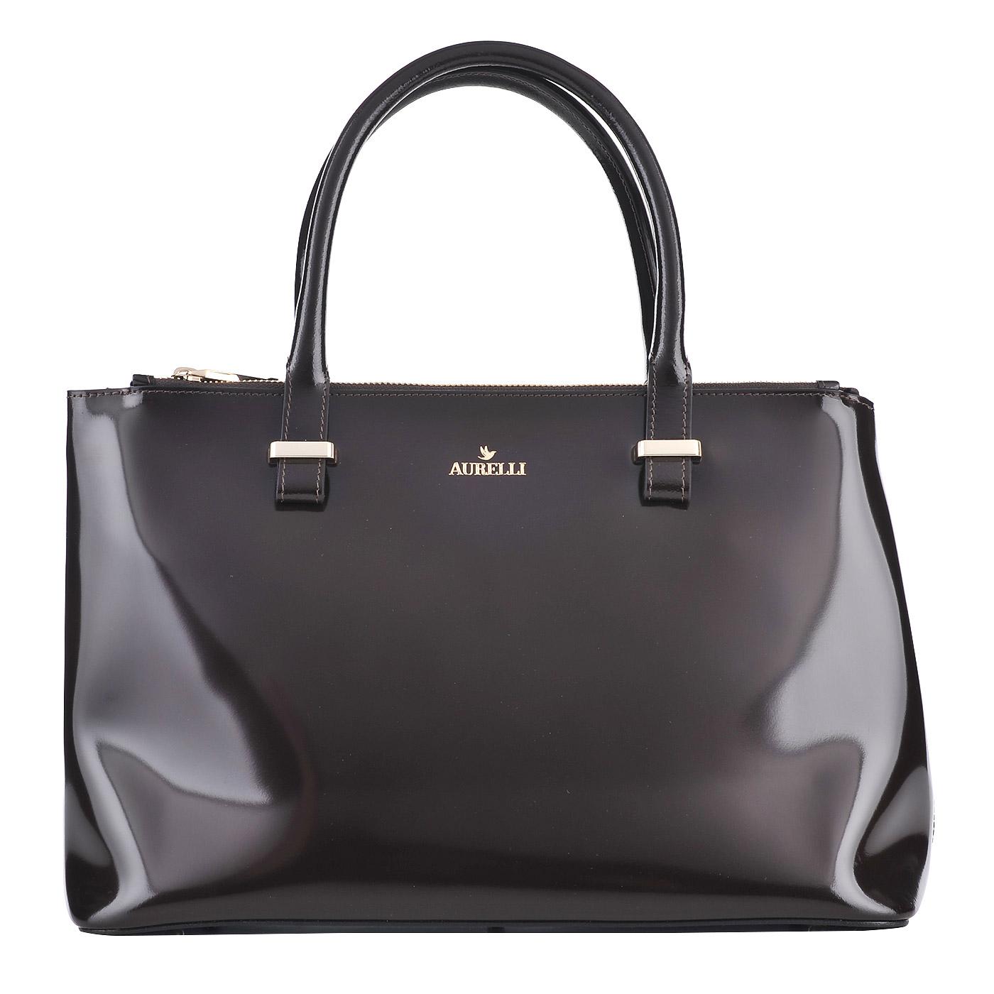 5f2d5aba1250 Женская кожаная сумка Aurelli 15W002-72G-t.moro - 2000557692978 ...