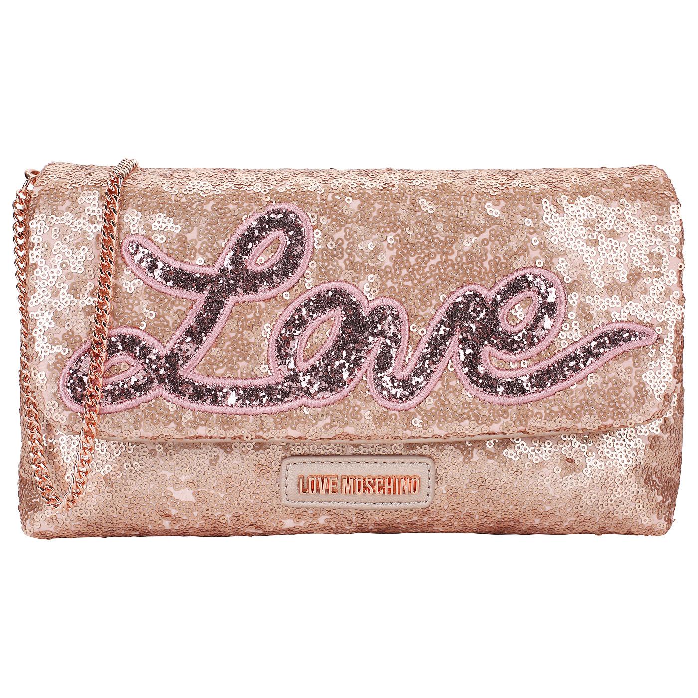925dd9a809d5 ... Женская сумочка с пайетками Love Moschino Love Sequins ...