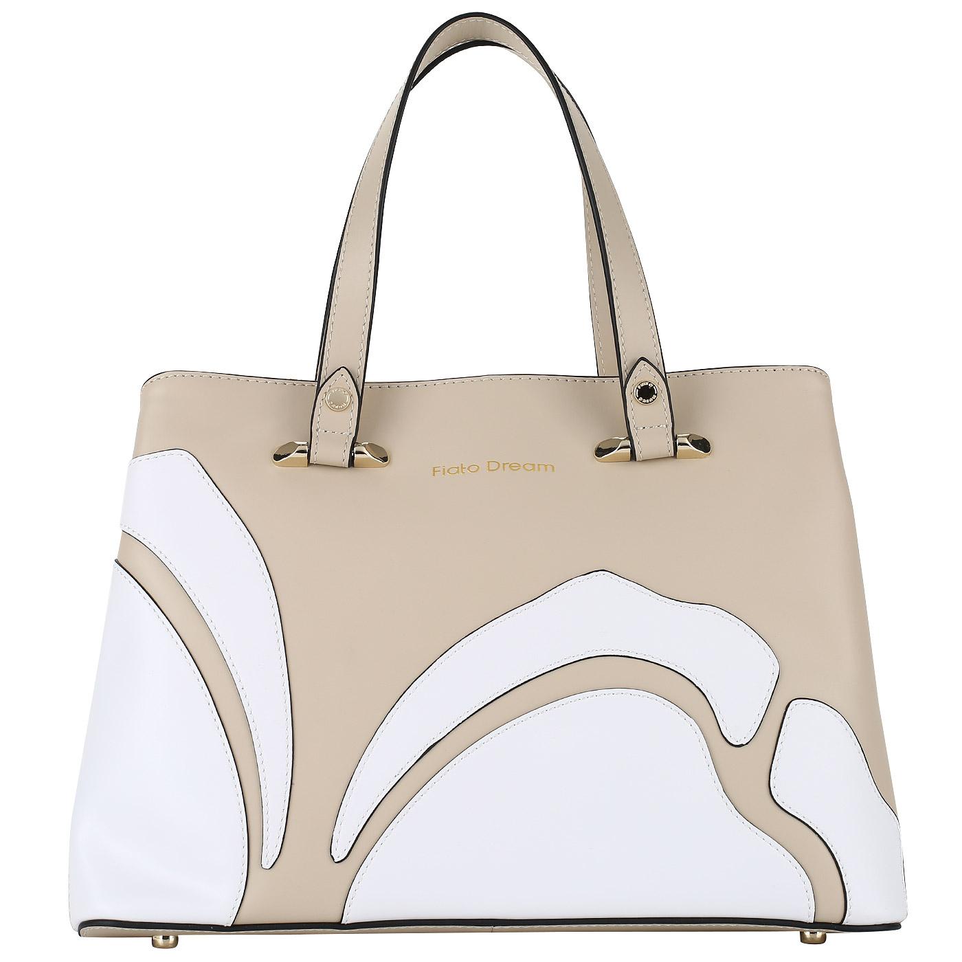 ef5cf92f2d1f Женская сумка из натуральной кожи с декором Fiato Dream 1120 FD ...