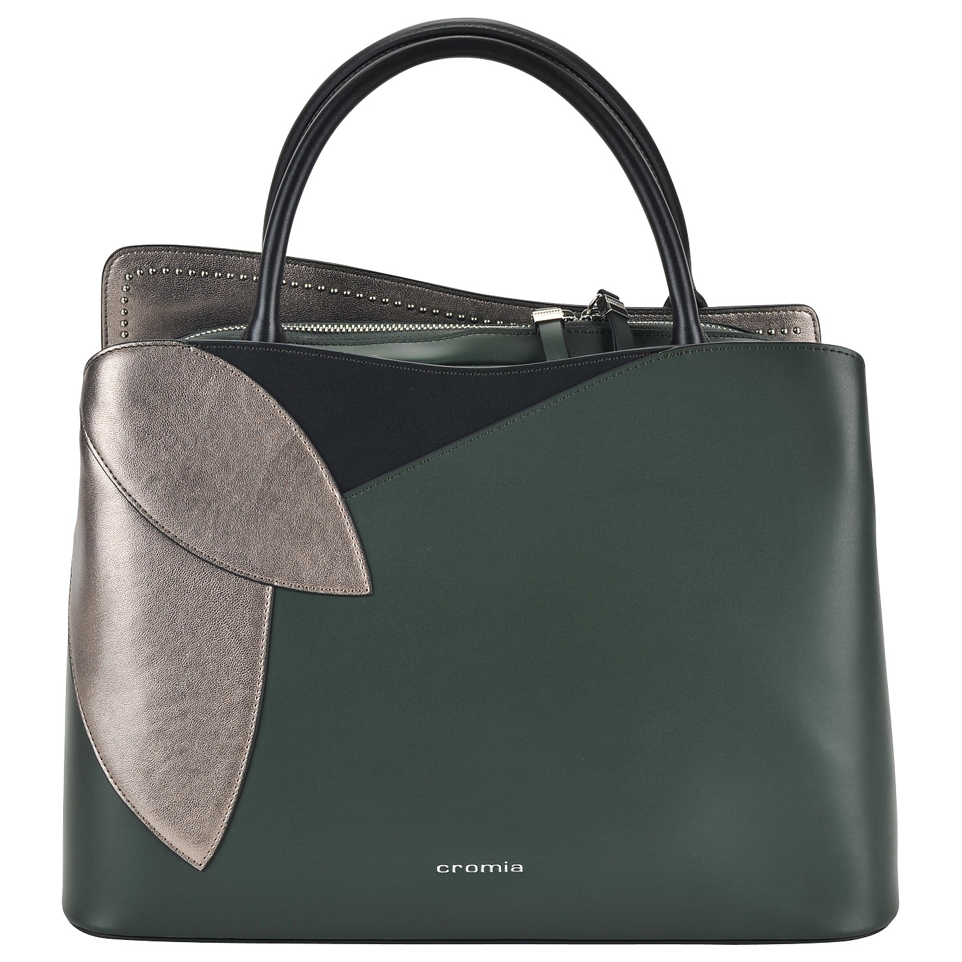 79418edeeb55 ... Женская кожаная сумка с короткими ручками Cromia Rose ...