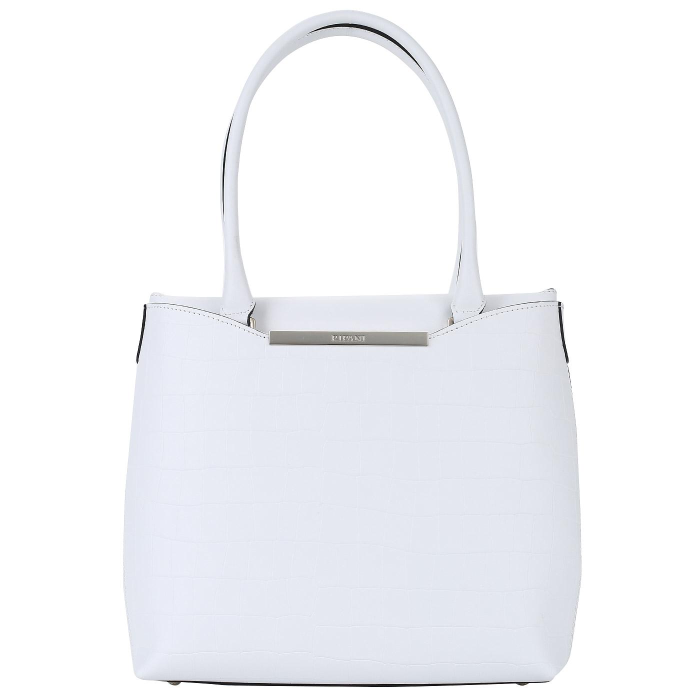 368682086d38 Белая кожаная сумка Ripani Capinera Белая кожаная сумка Ripani Capinera ...
