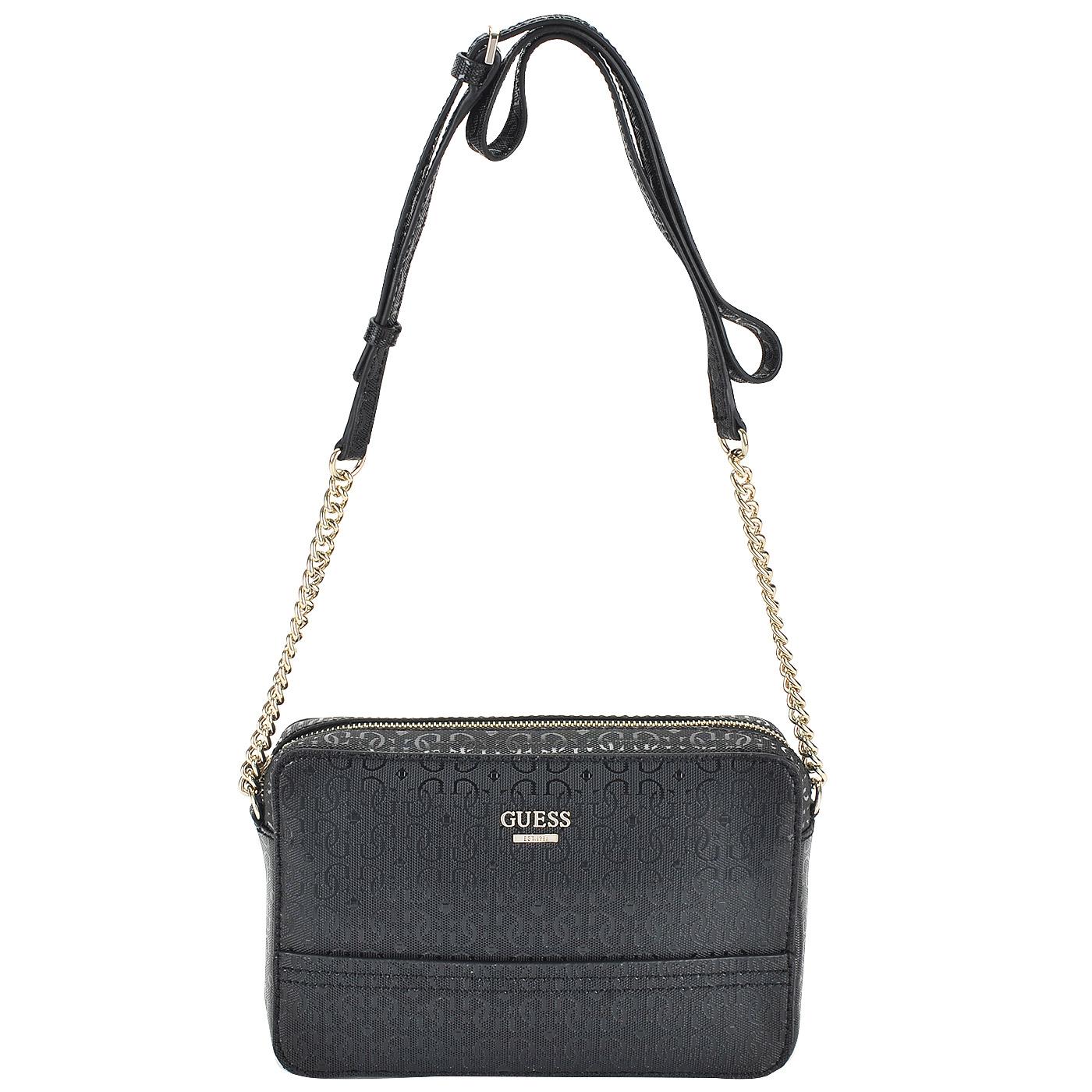 800b0d631dcb Женская черная сумка через плечо Guess Devyn HWGS64 21120_black ...
