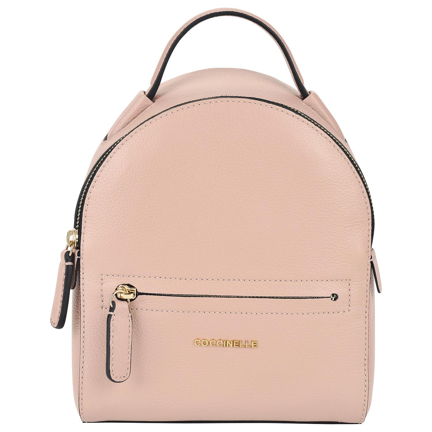 d80150c87748 Маленький женский рюкзак из натуральной кожи Coccinelle Clementine soft ...