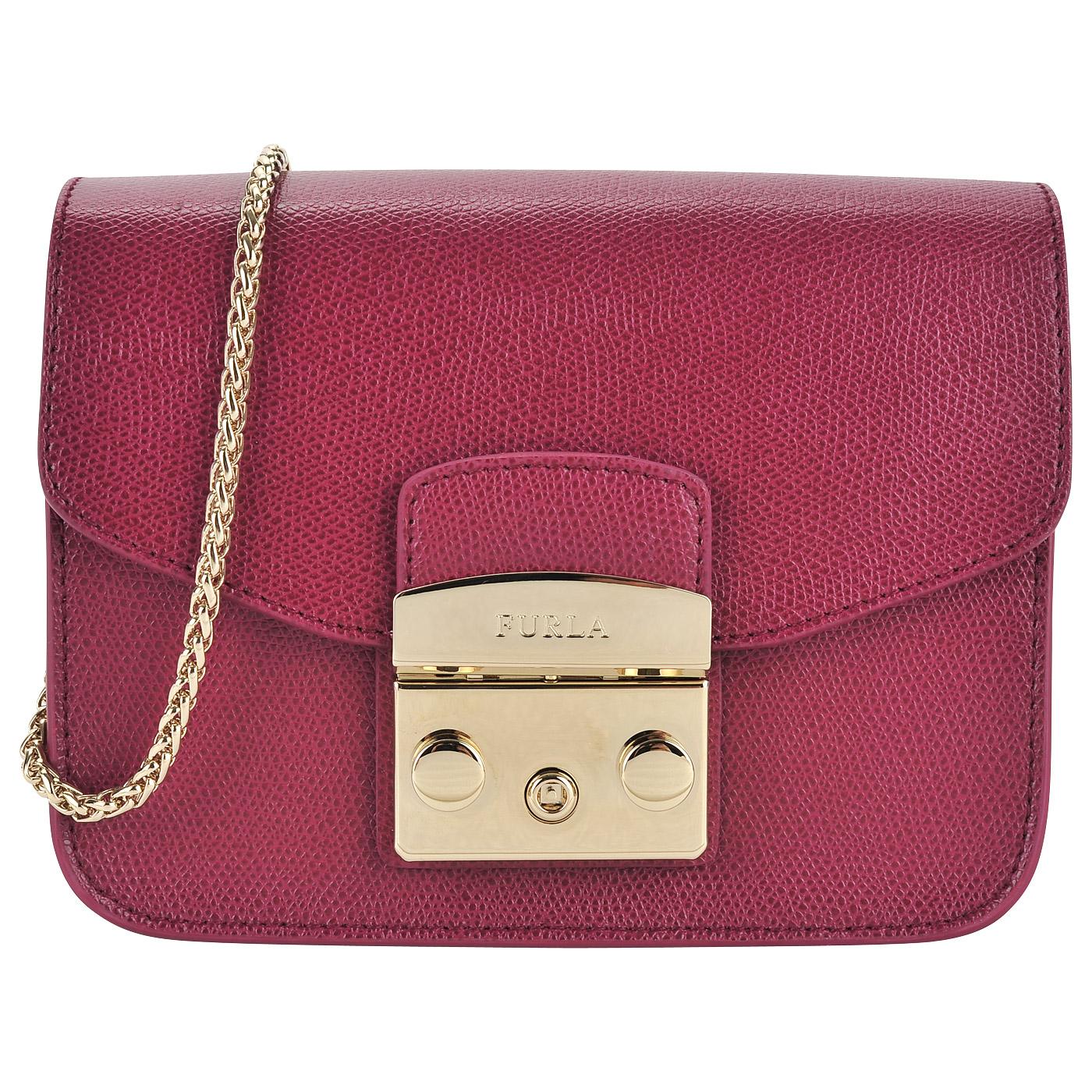 9d98903fcb3f ... Маленькая женская сумочка из натуральной кожи Furla Metropolis ...