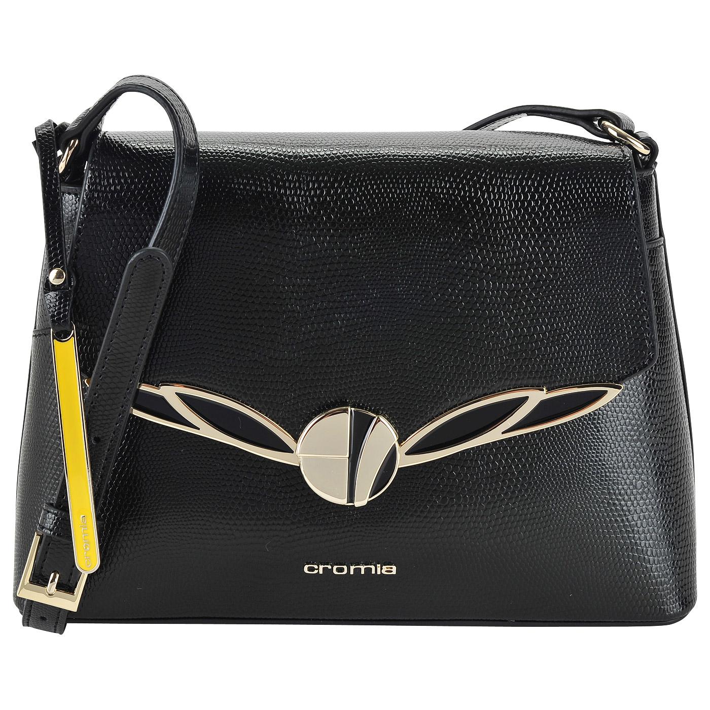 2fa748bee581 ... Женская кожаная сумка кросс-боди с выделкой под рептилию Cromia  Starlight ...
