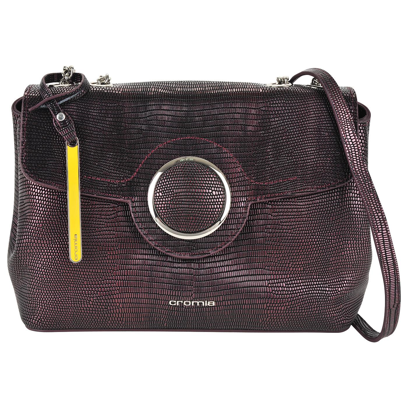 09f9b214471e Женская кожаная сумка кросс-боди с выделкой под рептилию Cromia Nocturne ...