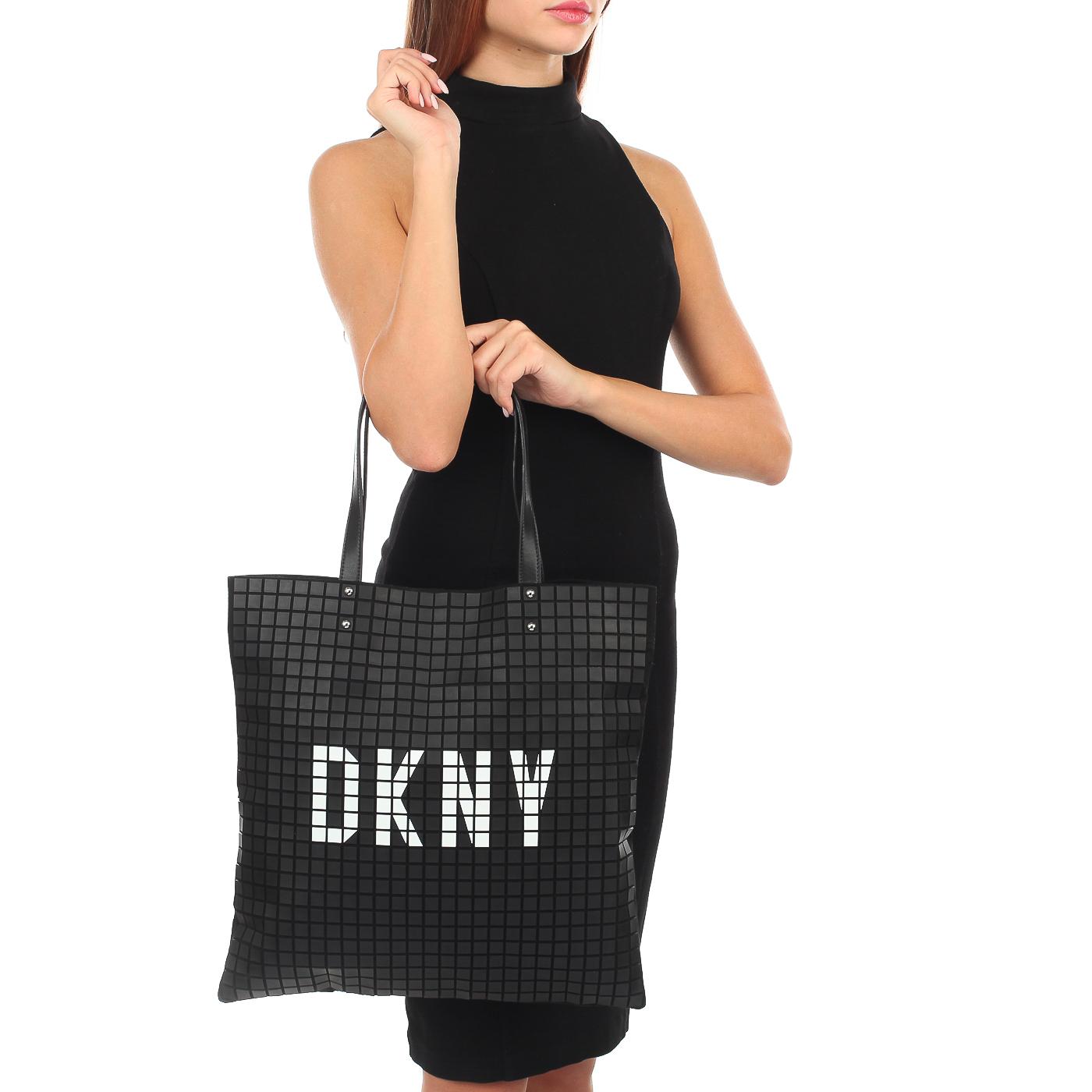 342c9a6d6b87 Кожаная сумка с длинными ручками DKNY St. Marks R83BZ699-BLW ...