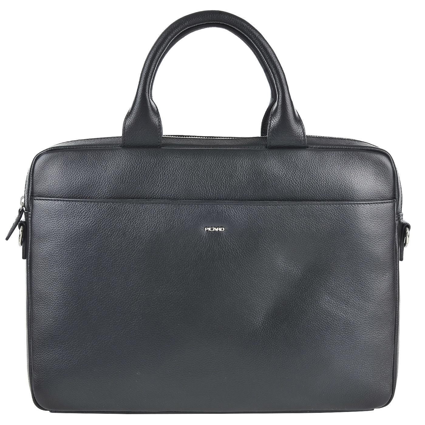 1f6fa7be0681 Мужская кожаная деловая сумка Picard Wien 8814 826_schwarz - 2000557708013  черный натуральная кожа, ПВХ 39 x 28 Цена 18380 руб. купить в  интернет-магазине ...
