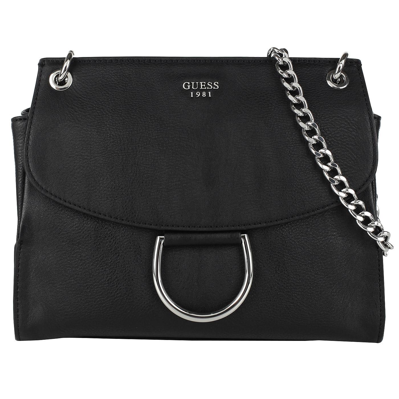 0647d738f563 Женская черная сумка через плечо Guess Fynn HWVY66 81210_black ...