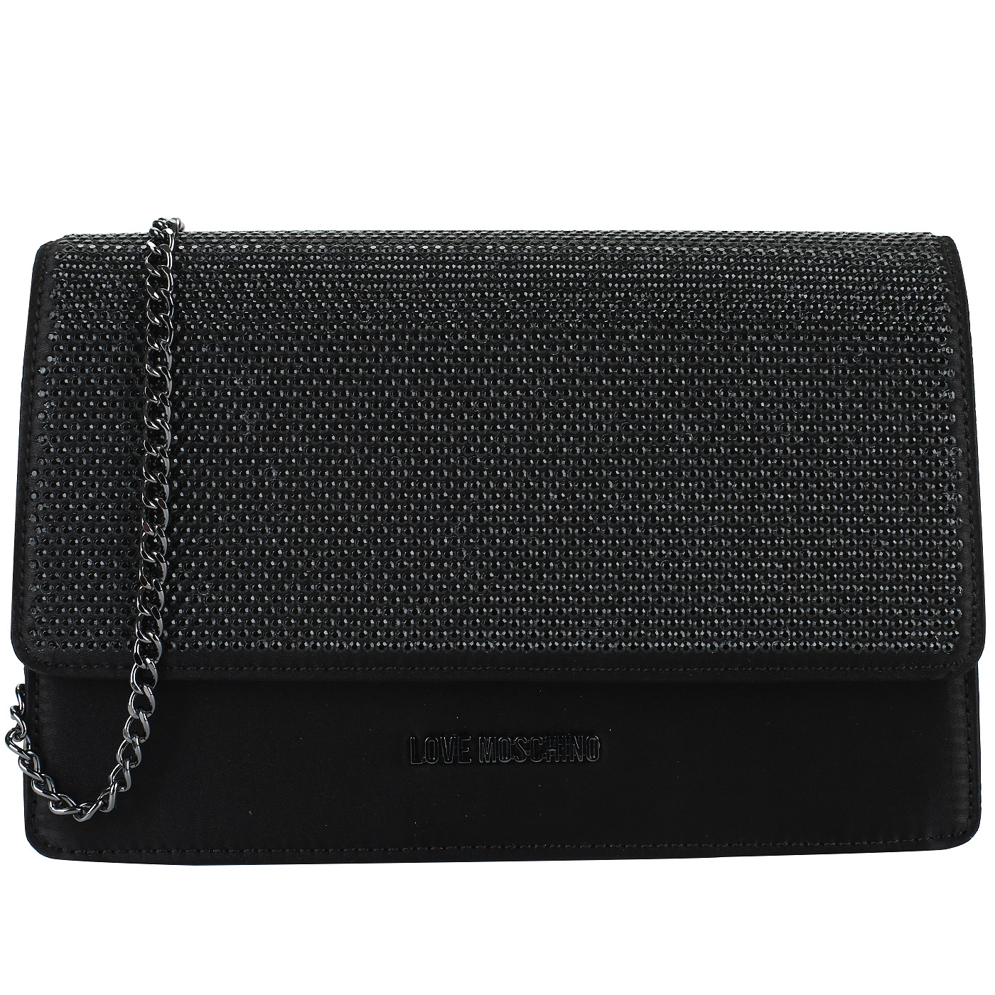 32d1d56390e9 Черный клатч на цепочке Love Moschino Evening bag JC4164PP16_000 ...