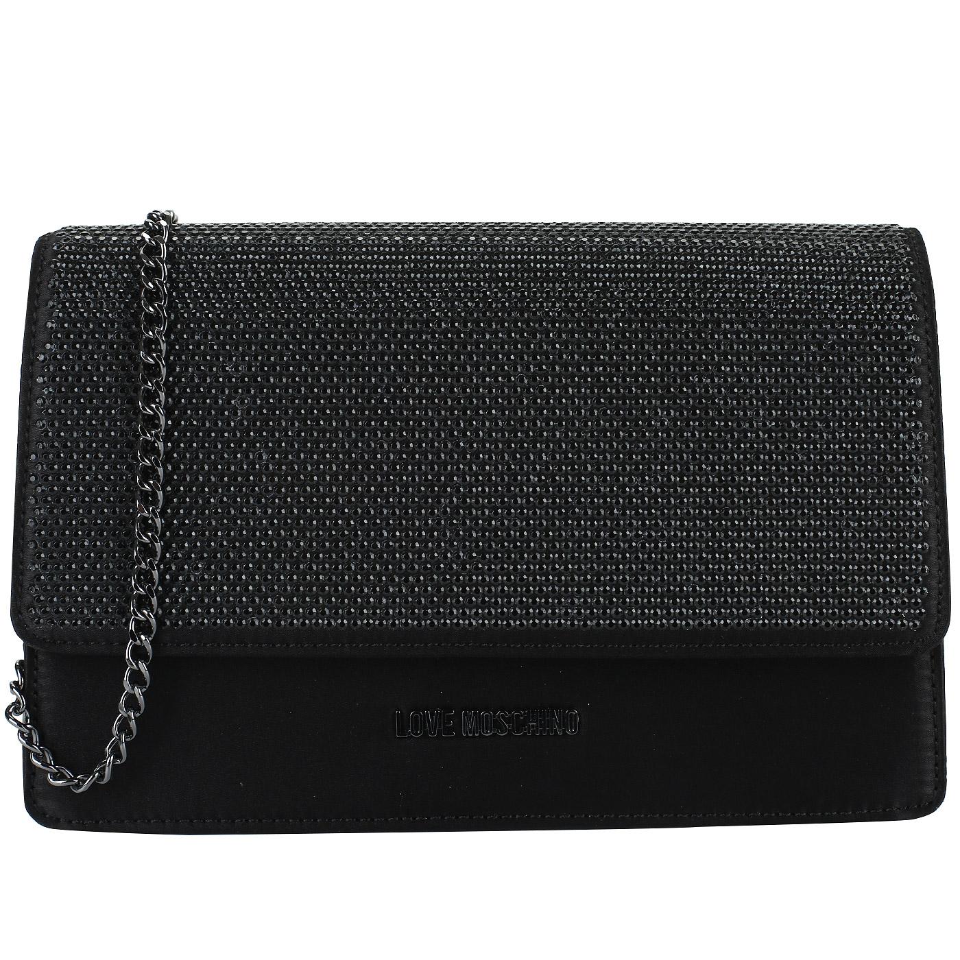 f76771a16804 Черный клатч на цепочке Love Moschino Evening bag JC4164PP16_000 ...