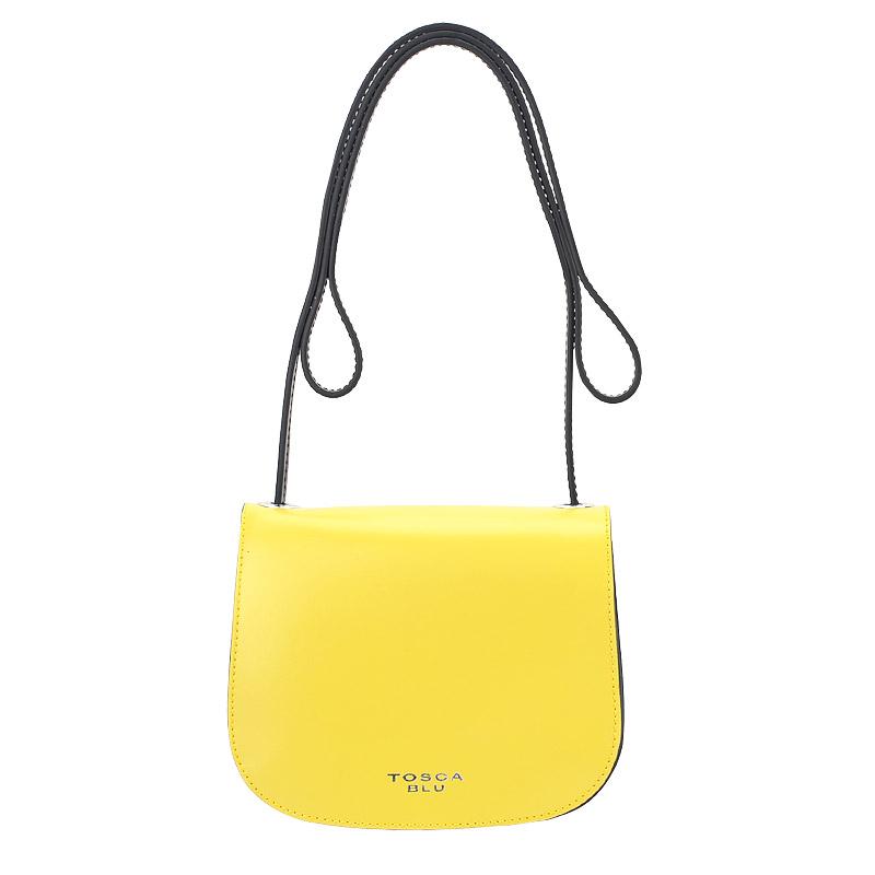 c634cf93ec84 Женская кожаная сумка через плечо Tosca Blu Bic 16BB434_yellow ...
