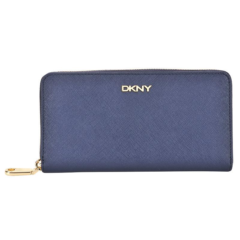 Портмоне DKNY Saffiano R1621108-407 синий натуральная кожа  купить в интернет-магазине