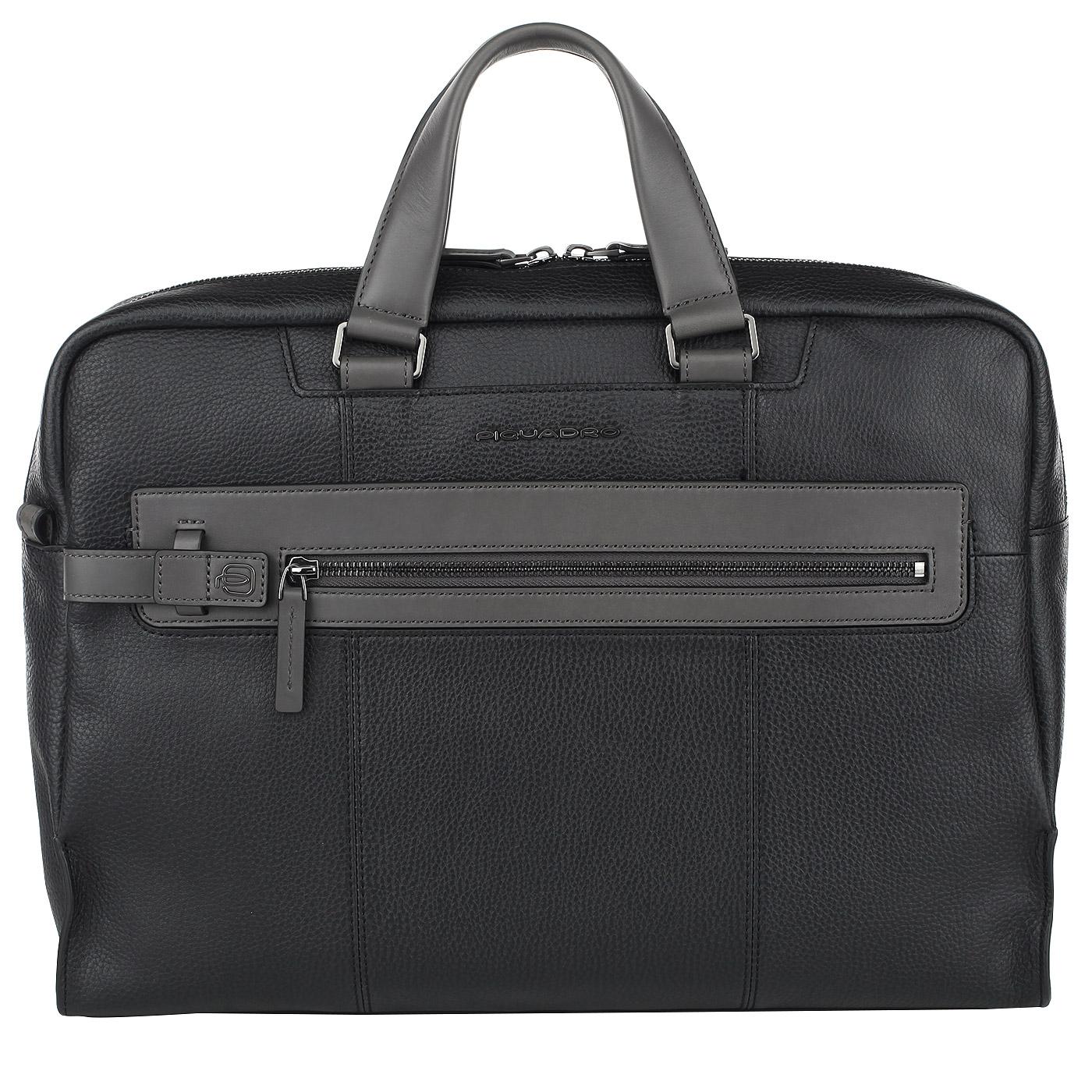 5ab4b34821d9 Вместительная деловая сумка из натуральной кожи Piquadro Scott ...