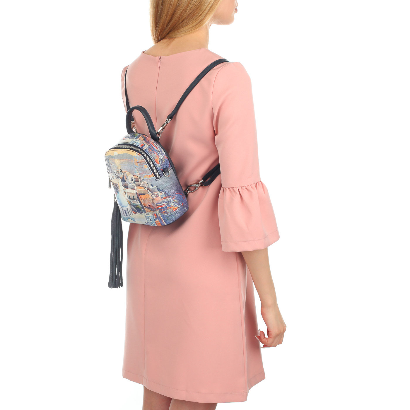 ae37fcf465a7 Женский рюкзак с принтом Chatte FT32702_Santorini orange ...