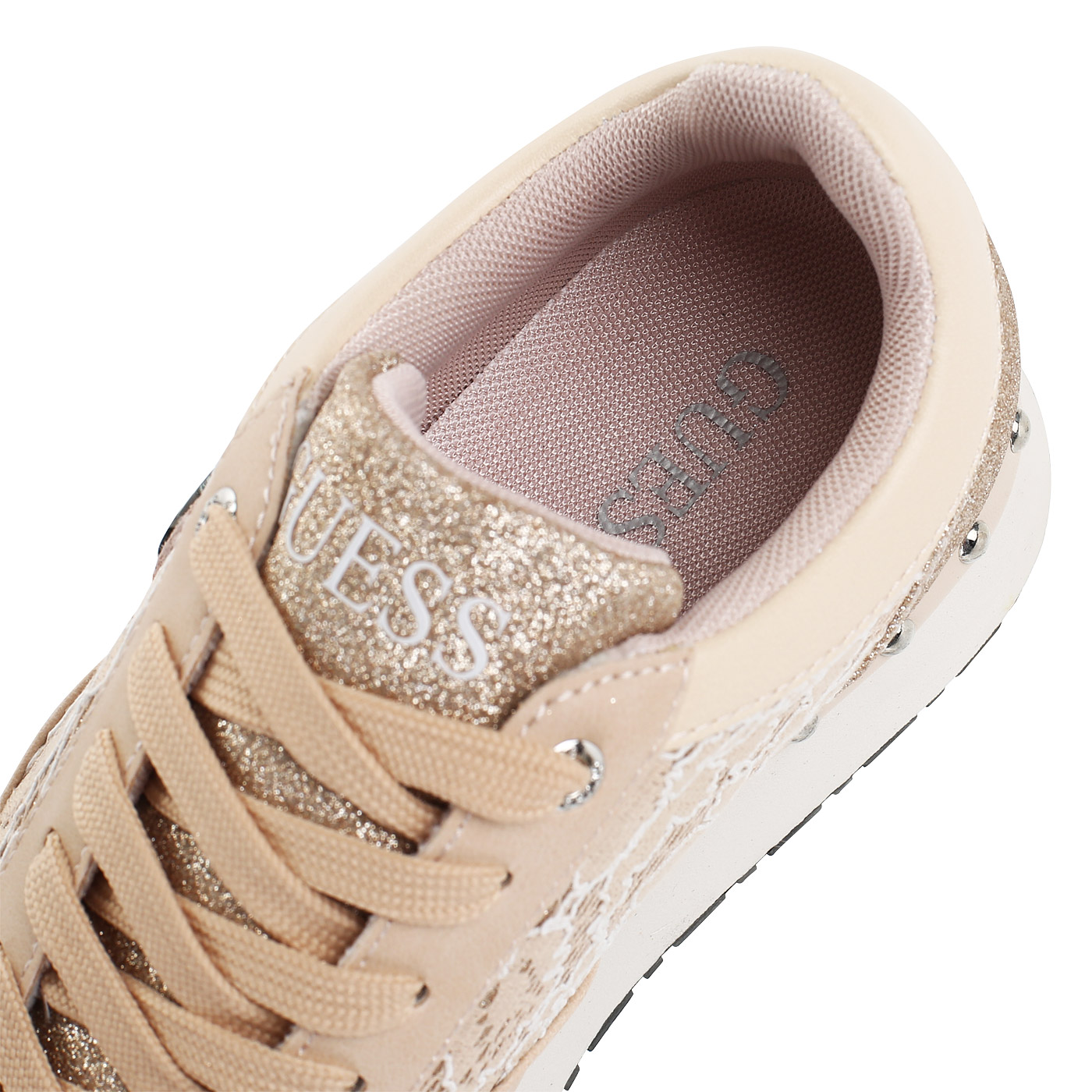 f492d584 Женские бежевые кроссовки на платформе Guess Tiffany FLTIF1 ...