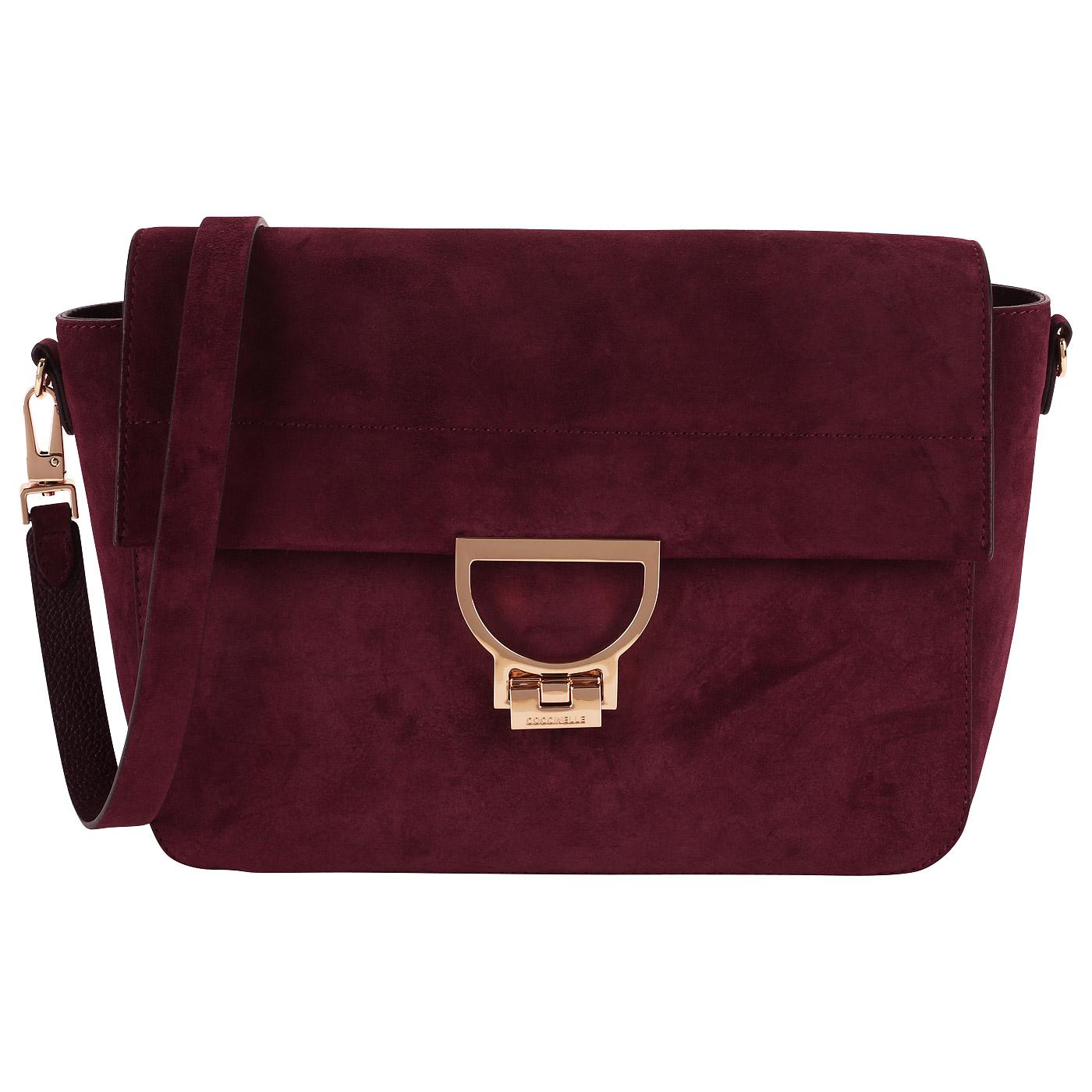 6bb89d6fa52e Замшевая сумка с откидным клапаном Coccinelle Arlettis suede CD6 12 ...