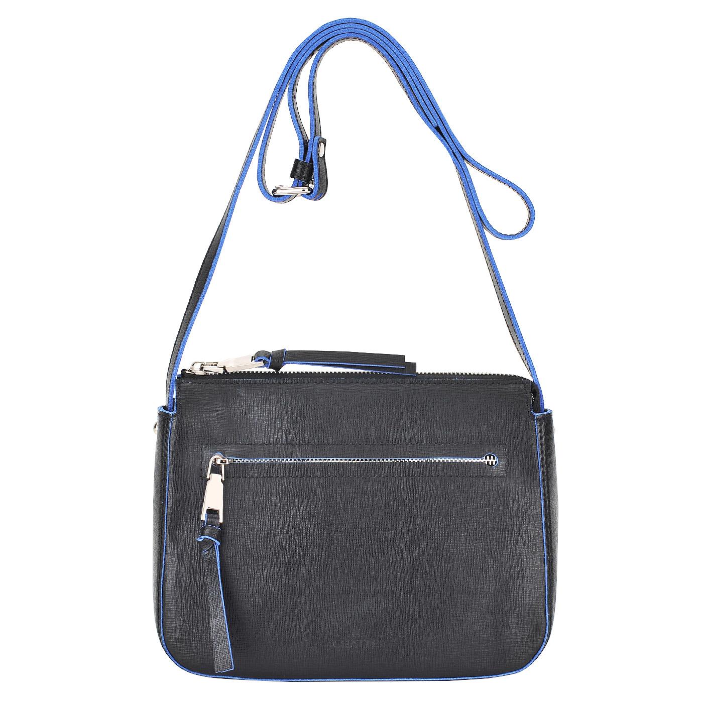 СумкаСумки через плечо<br>Chatte, сумка жен, н/к, сафьян, черн<br>