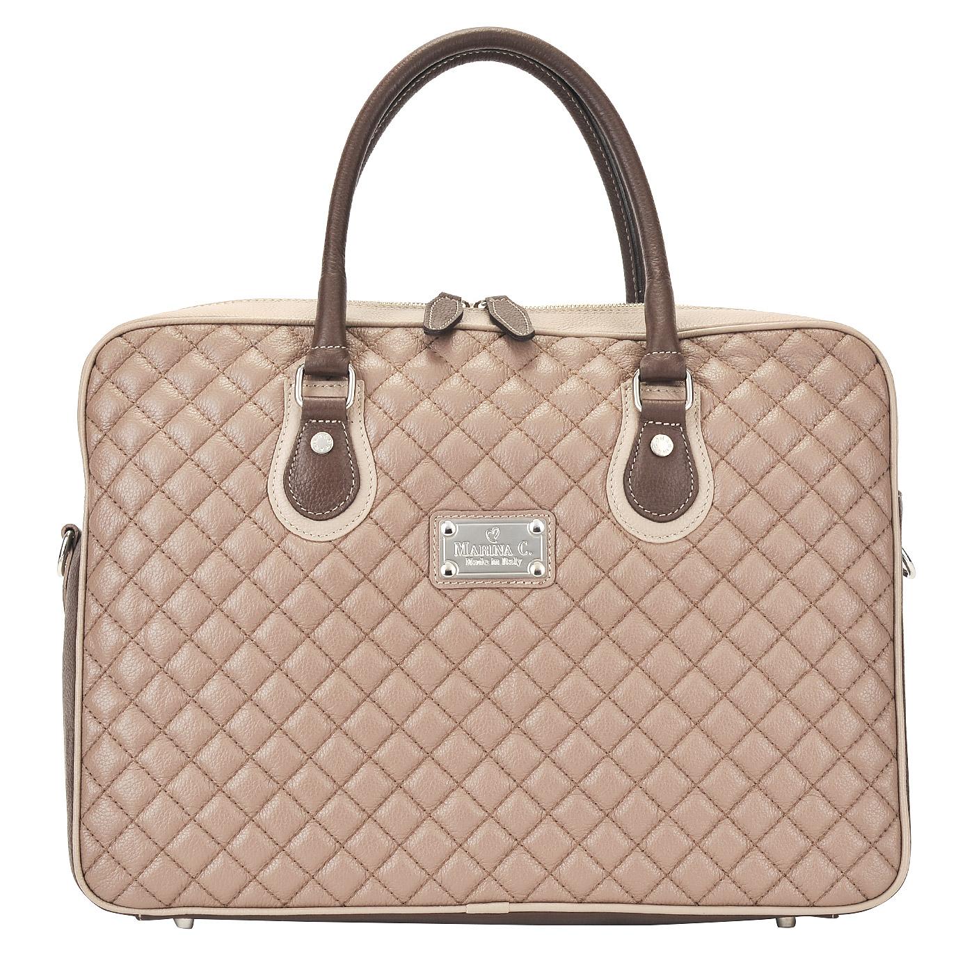 Женская кожаная деловая сумка Marina Creazioni