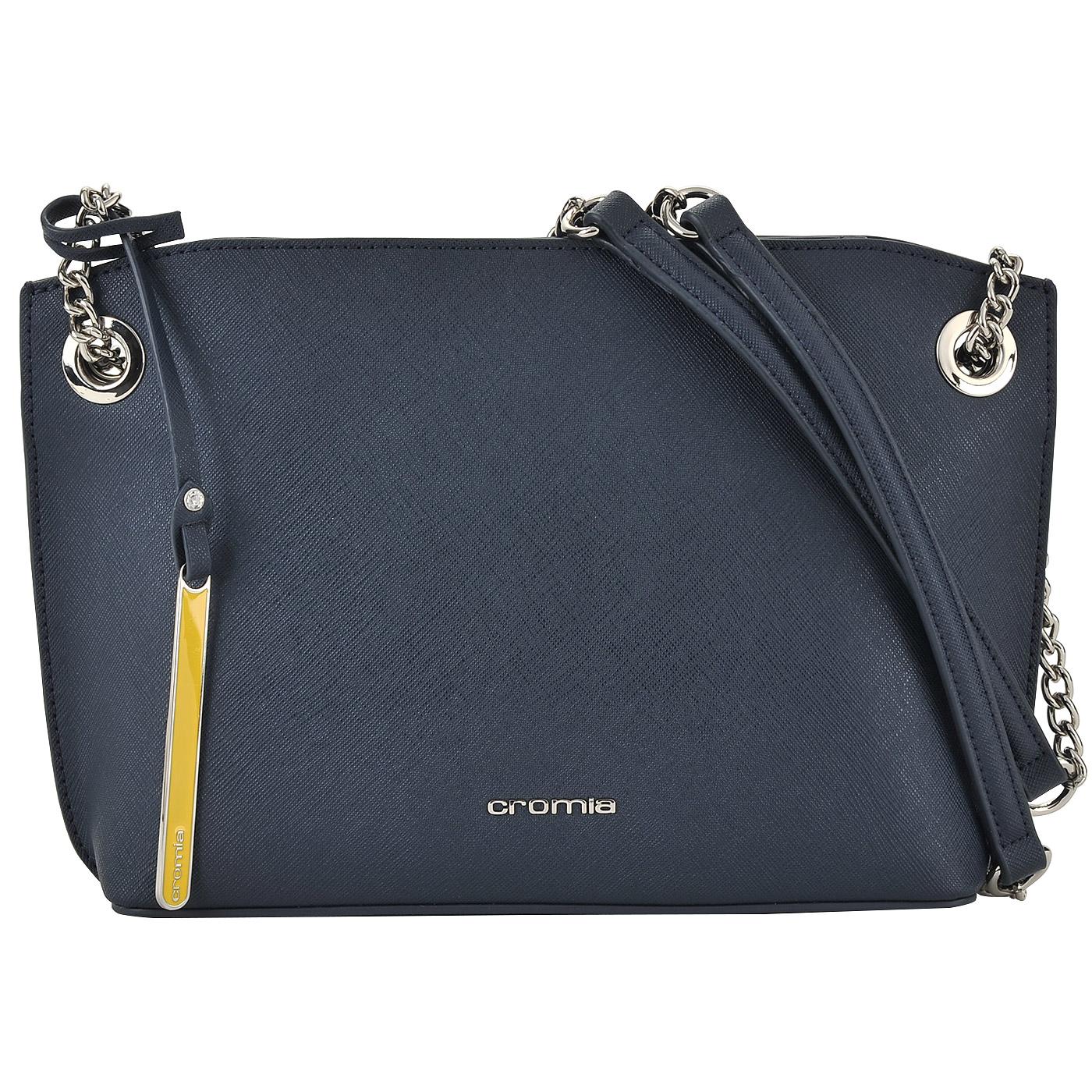 31a389d9b5dd ... Женская кожаная сумочка на цепочке через плечо Cromia Perla ...