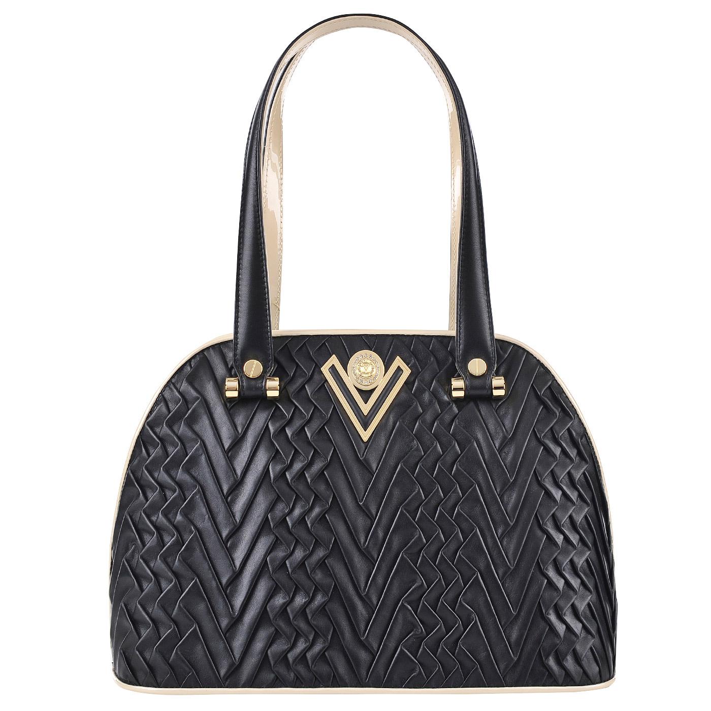 e29f4d063fc8 Женская кожаная сумка Valentino Orlandi Jaly 5153_nero ...