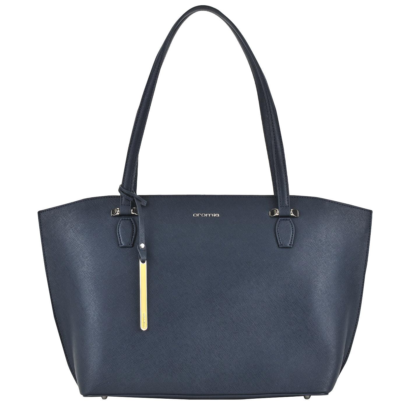 04247da74b51 ... Женская кожаная сумка-трапеция с длинными ручками Cromia Perla ...