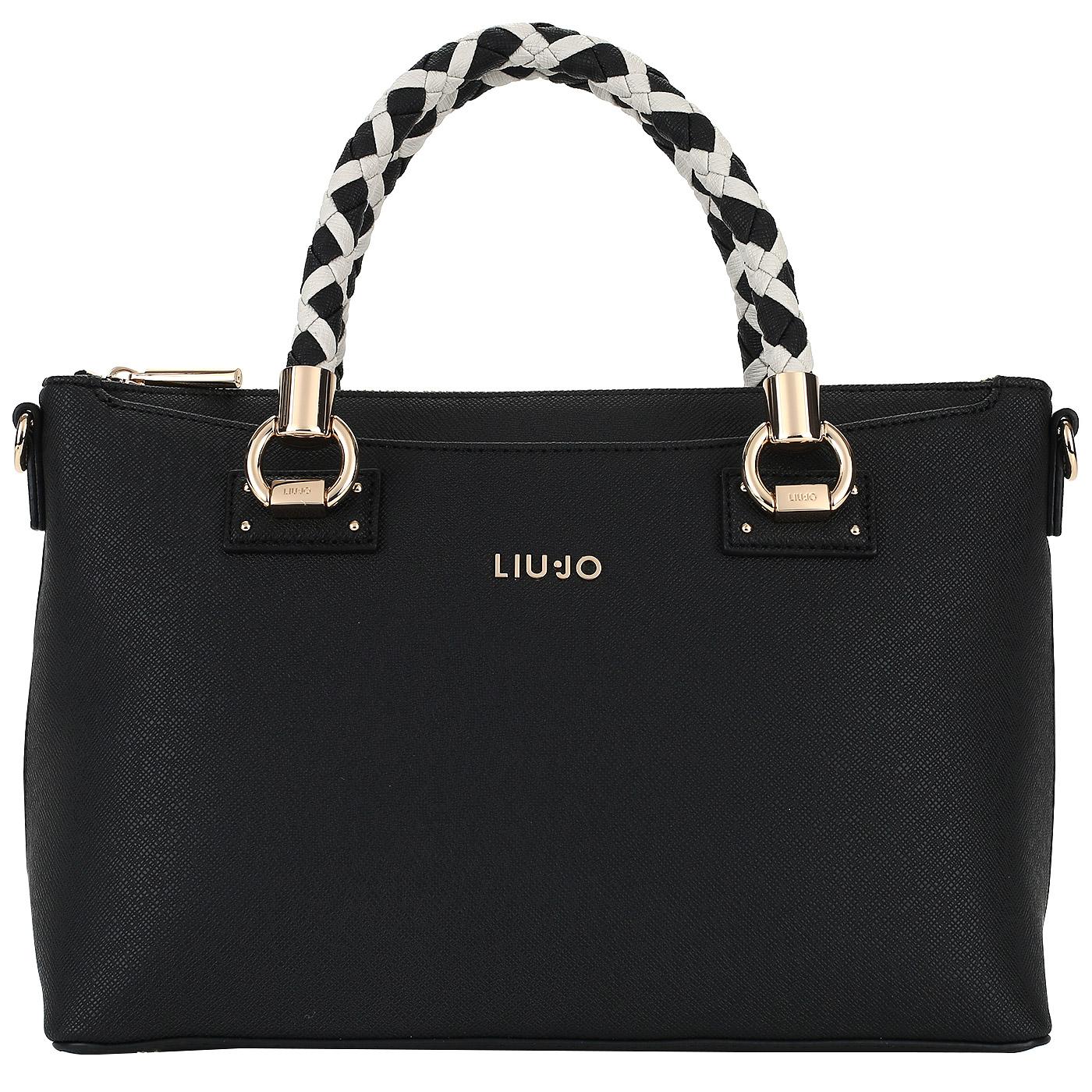 d4a368b89af2 Черная женская сумка Liu Jo Manhattan A18103E0499_nero/soia ...