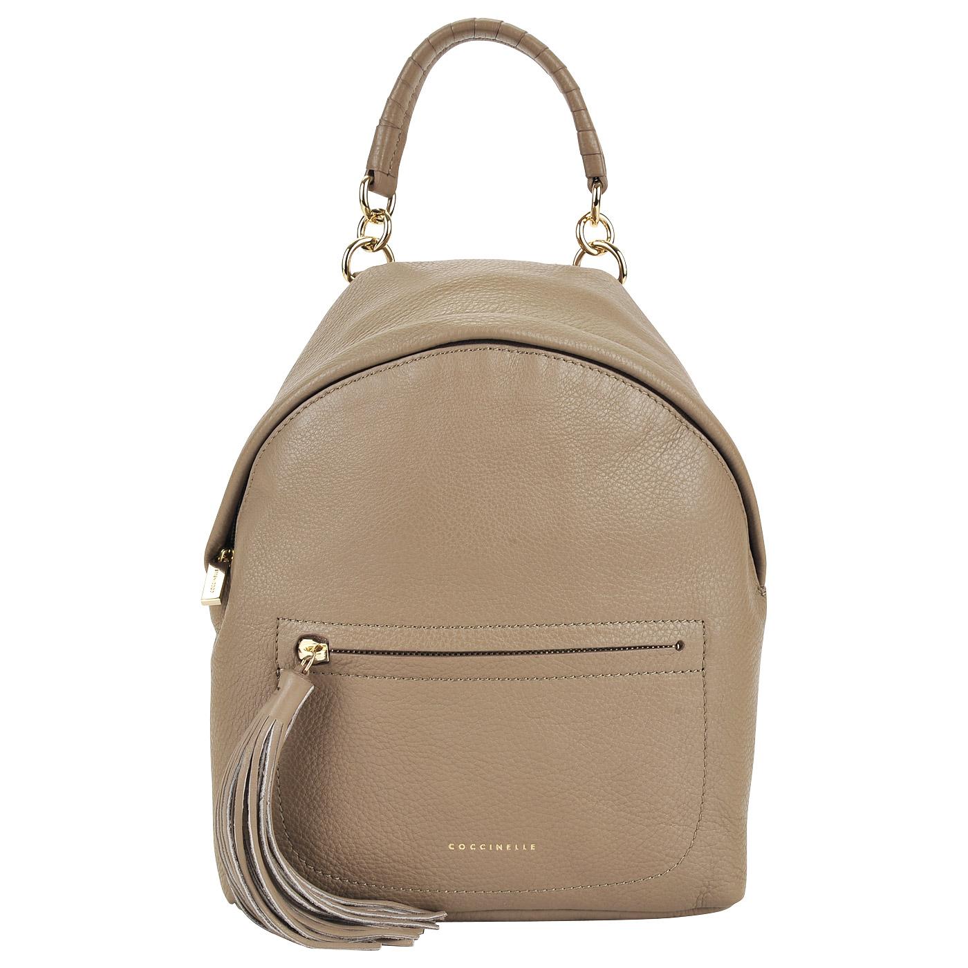 a171973be24f Женский кожаный рюкзак с одним отделом Coccinelle Leonie AN0 54 03 ...