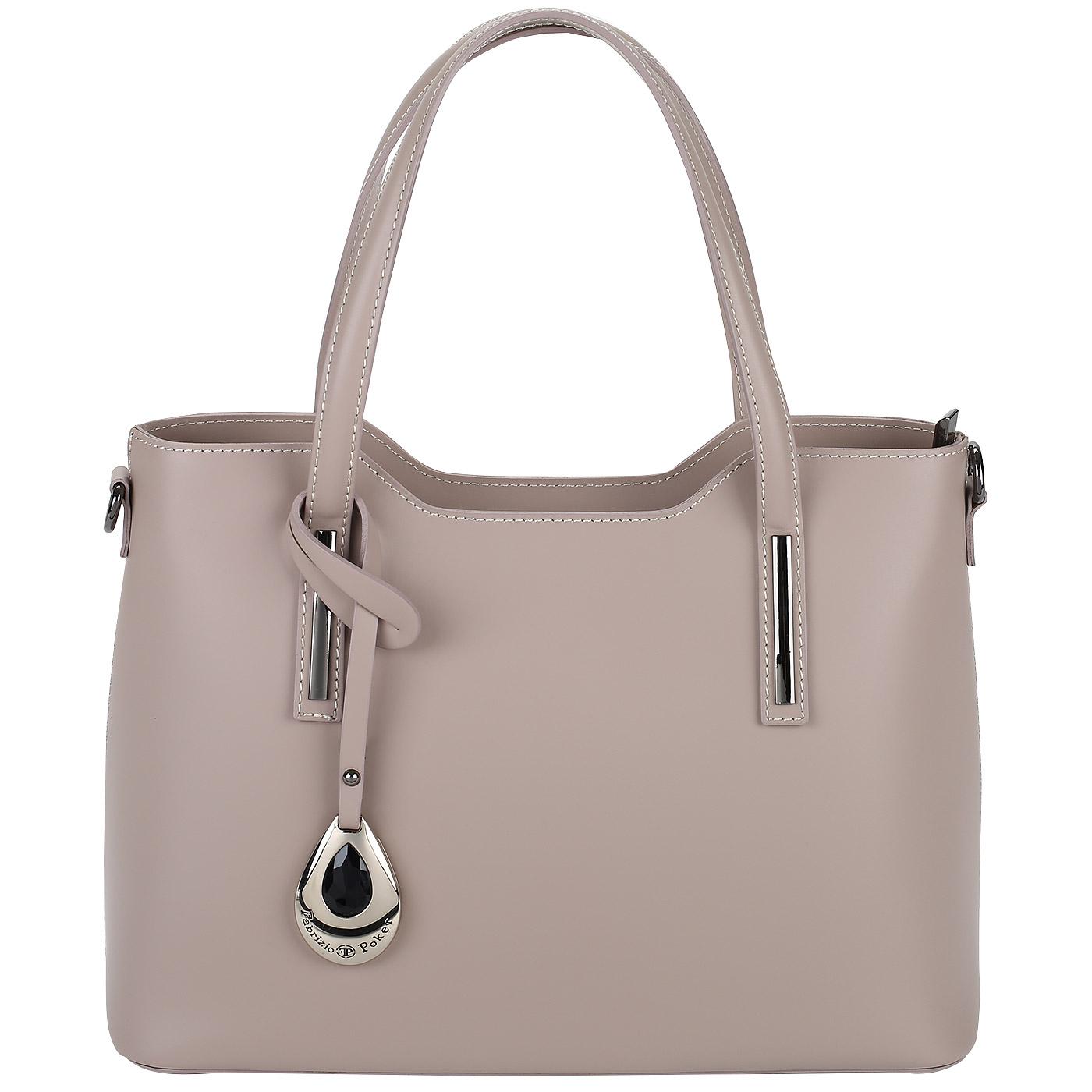 83fbbe26df02 ... Розовая женская сумка из натуральной кожи Fabrizio Poker 013 ...