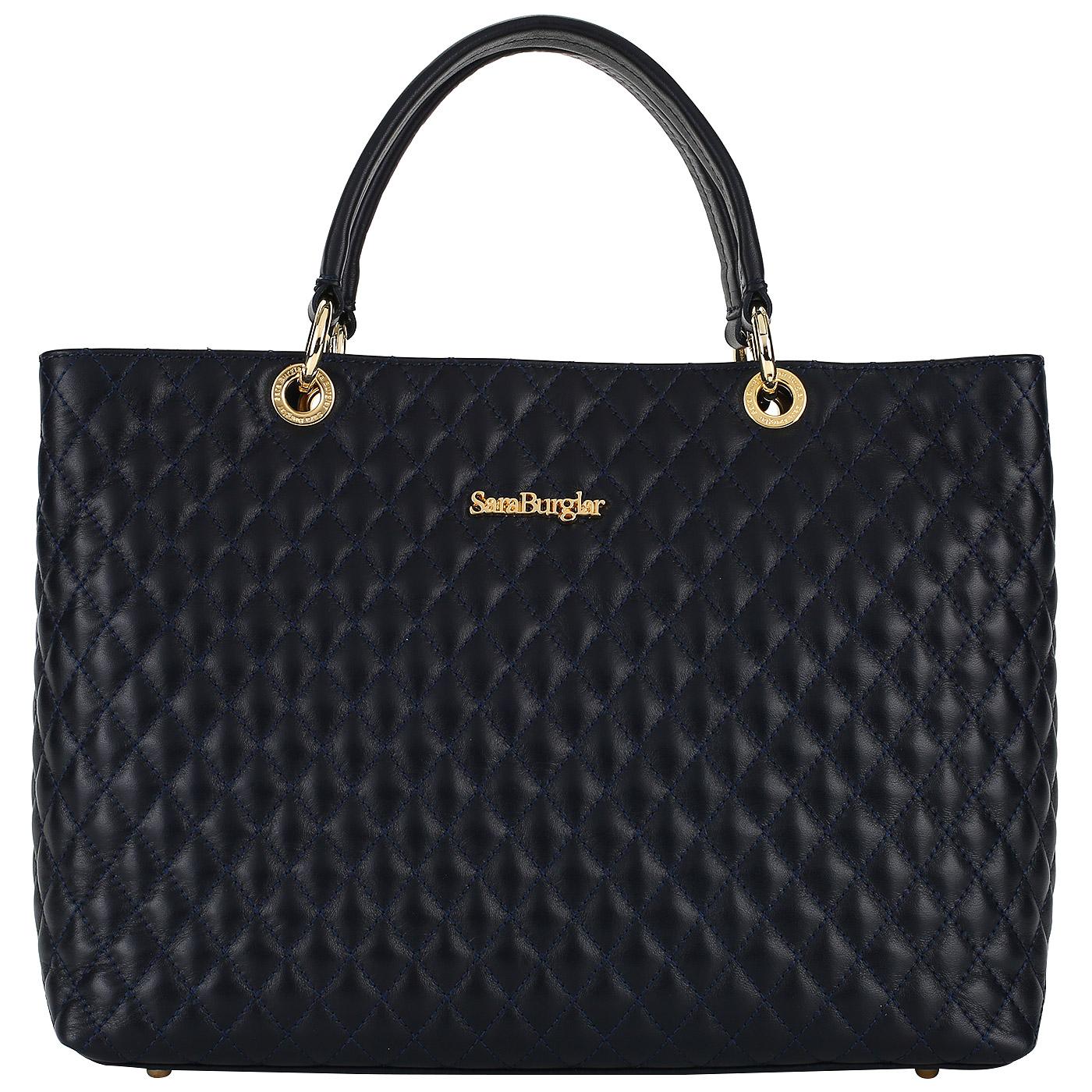 92828d51a233 ... Женская сумка из натуральной кожи со съемными ручками Sara Burglar  Nelly new Trapunto ...