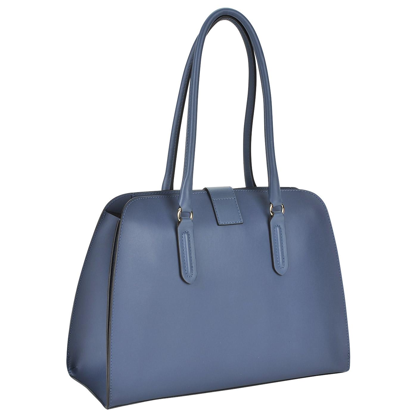 40f9a9cfeb14 Женская сумка из гладкой матовой кожи с длинными ручками Furla Milano