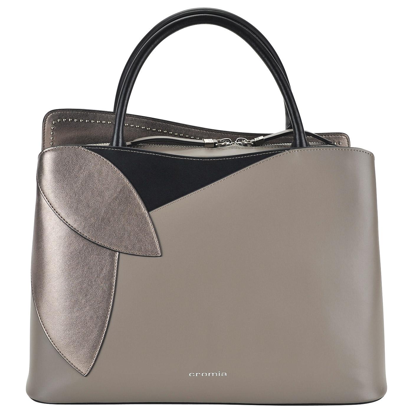 a8229c98d762 Женская кожаная сумка с короткими ручками Cromia Rose 1403448_terra ...