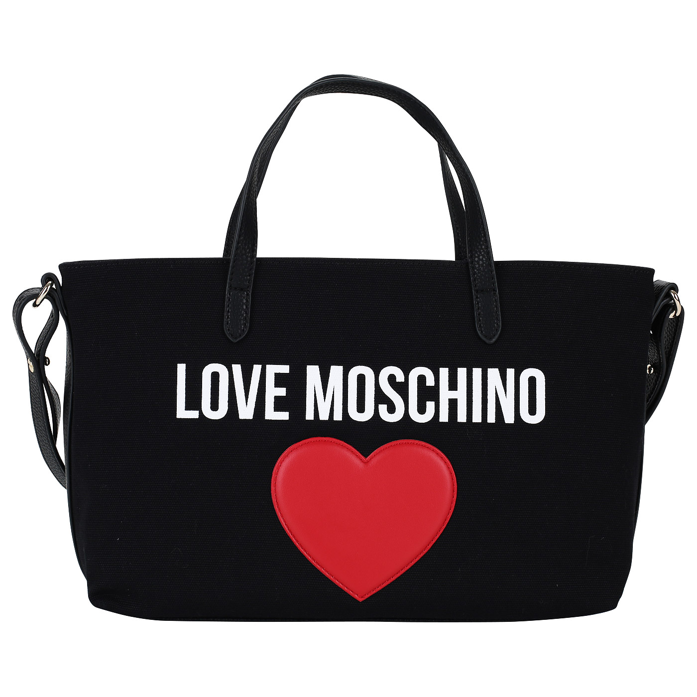 0eaeae5ea362 Черная женская сумка Love Moschino LM and Heart JC4137PP15_00A ...