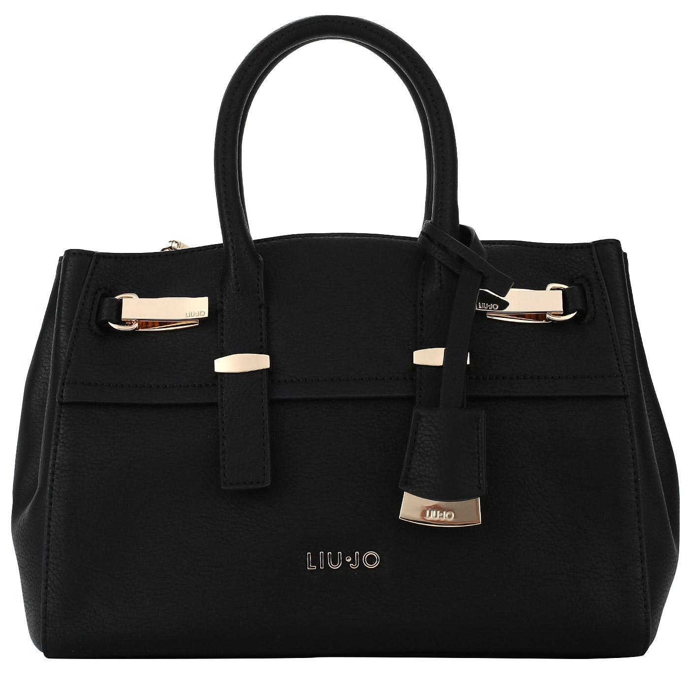 Черная женская сумка с плечевым ремешком Liu Jo Maine ... 27fc593916c