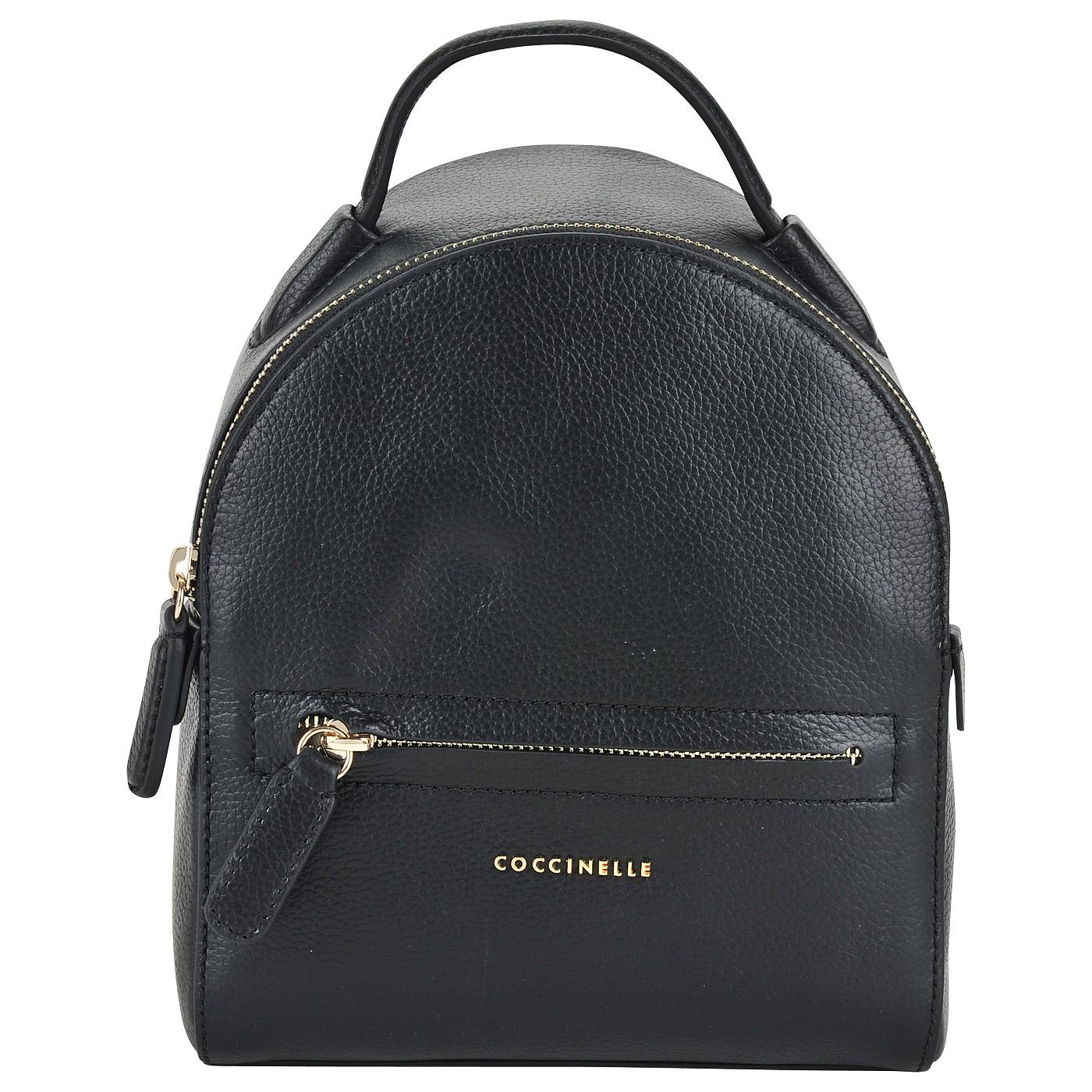 2ec20e284989 ... Маленький женский рюкзак из натуральной кожи Coccinelle Clementine soft  ...