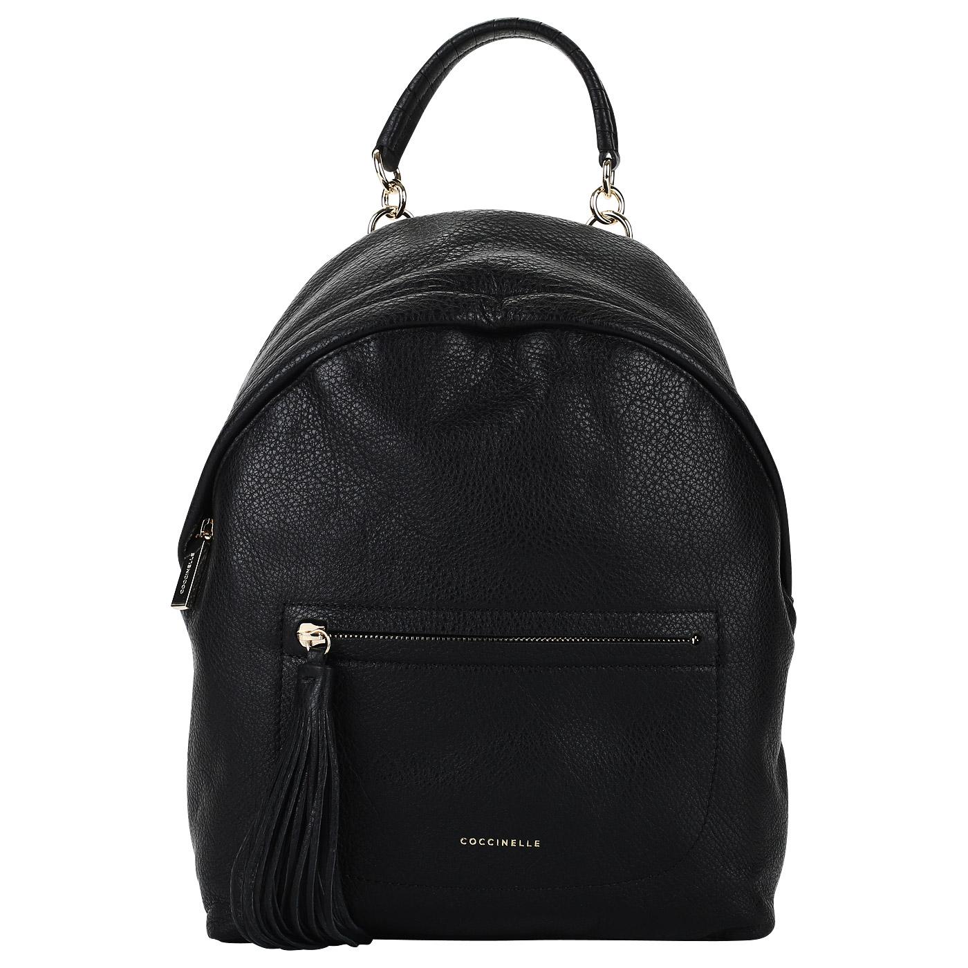 2c267728cae1 Черный женский рюкзак из натуральной кожи Coccinelle Leonie BN0 14 ...