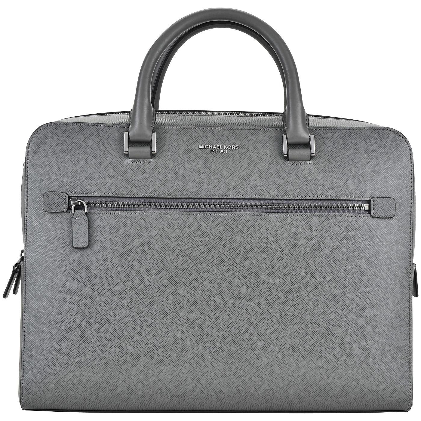 c9421e87baec Мужская деловая сумка из натуральной сафьяновой кожи Michael Kors Men  Harrison ...