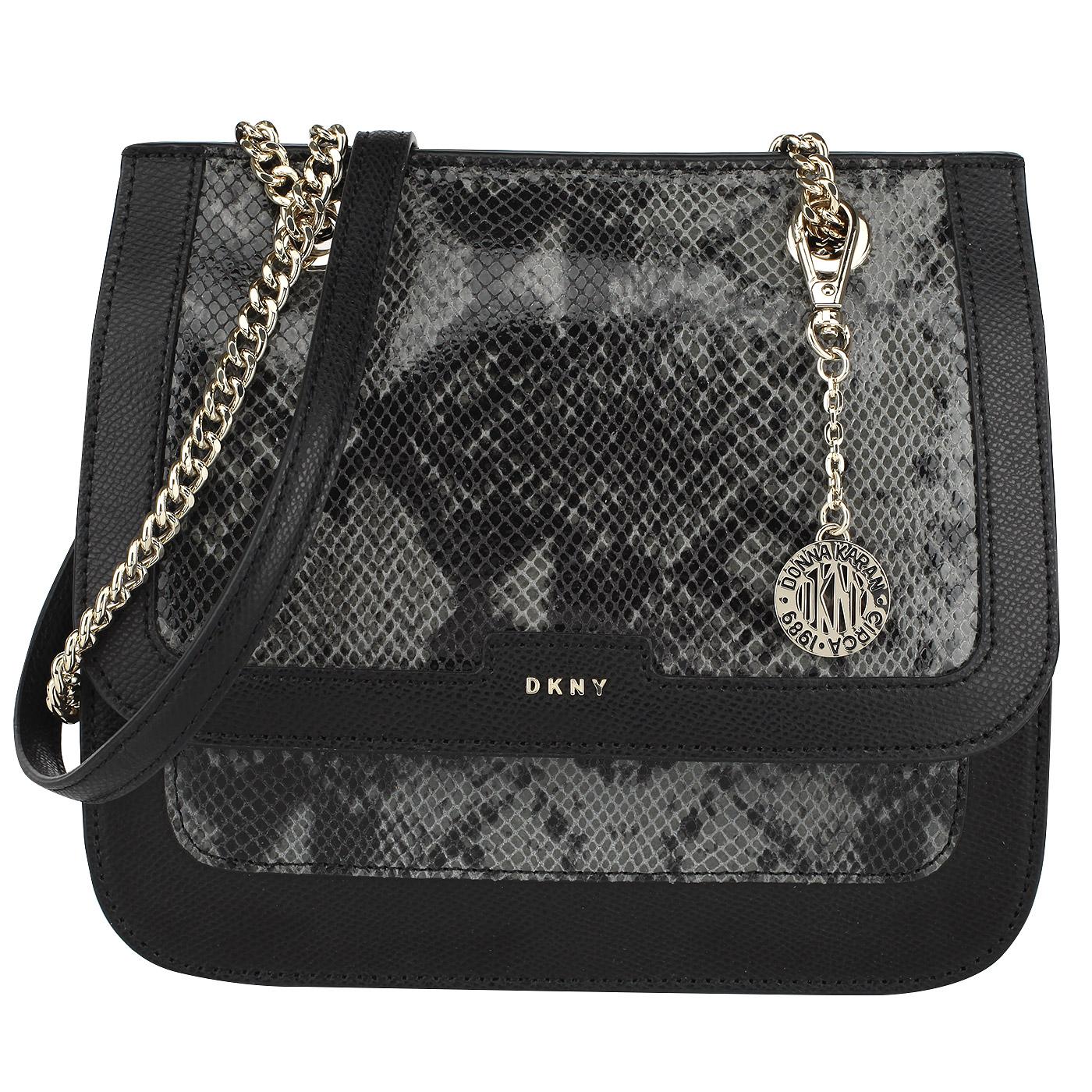c6fbe914a67e Женская кожаная сумка с выделкой под питона DKNY Cross hatch ...