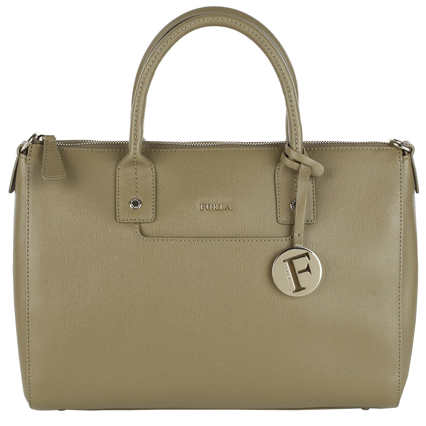 a5eb804c073d ... Вместительная женская сумка из натуральной сафьяновой кожи Furla Linda  ...
