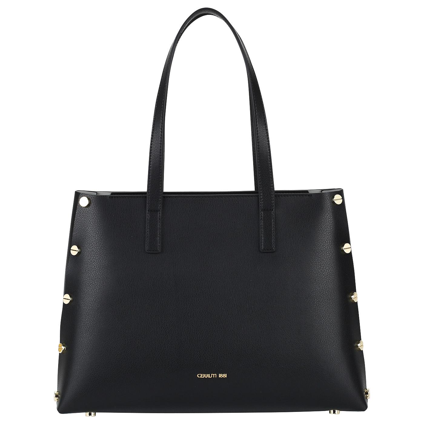 417c292bded8 Женская сумка из черной кожи Cerruti 1881 Marina CEBA02577M_black ...