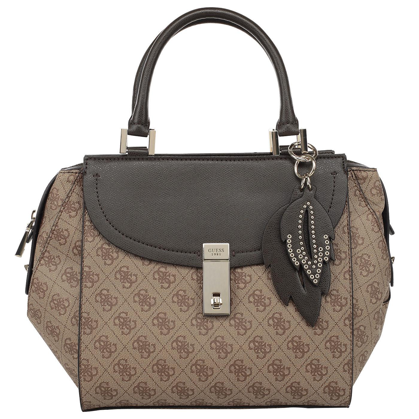 1ffe8cfb4c0a Вместительная женская сумка с короткими ручками Guess Nissana HWSG67 ...
