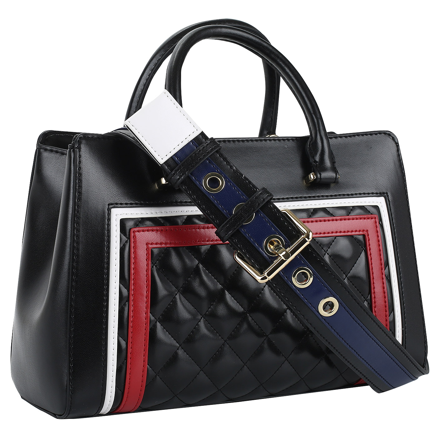 a65bf1208fdd Сумка с широким плечевым ремнем Love Moschino Striped Quilted ...