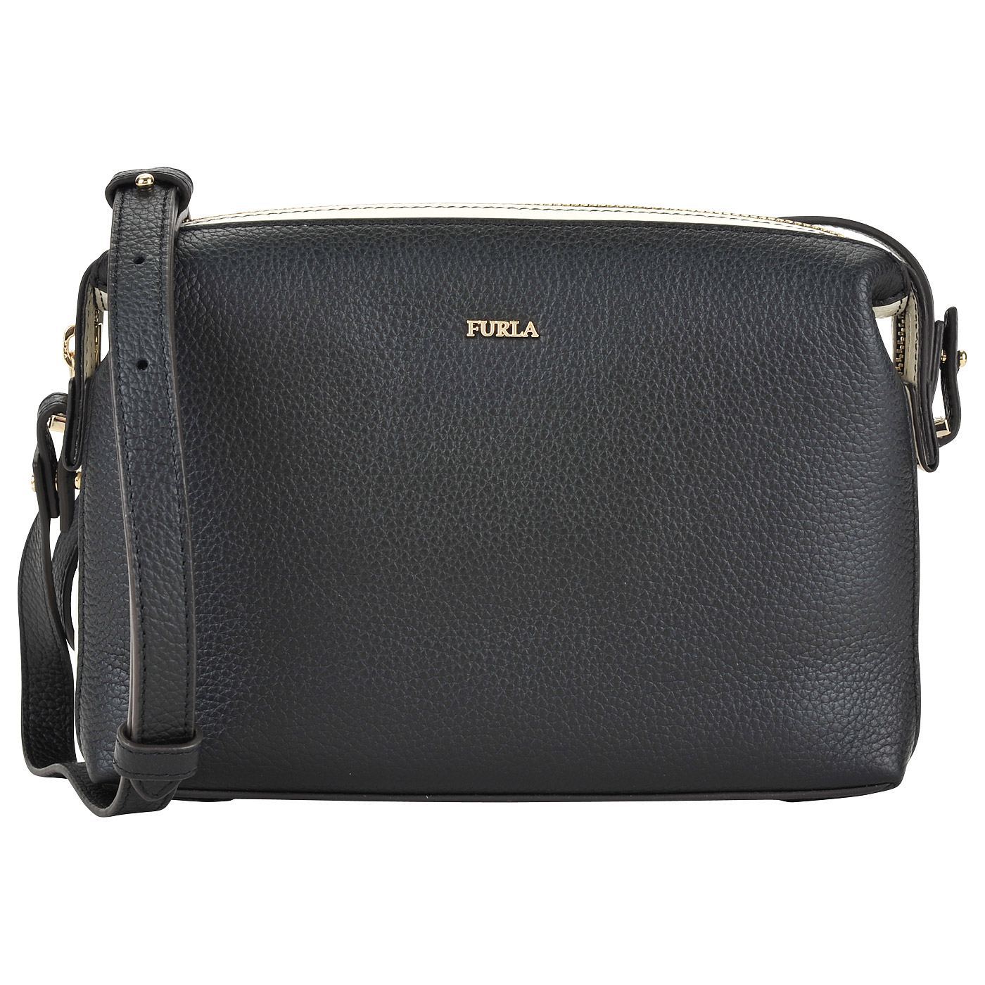 61970a85c0e7 Маленькая кожаная сумка через плечо Furla Blogger EP22_onyx ...