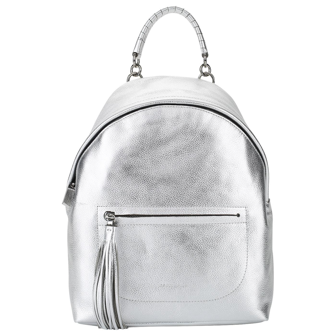 Женский рюкзак из серебристой кожи Coccinelle Leonie BN0 14 01 ... 9bf88beeaa9