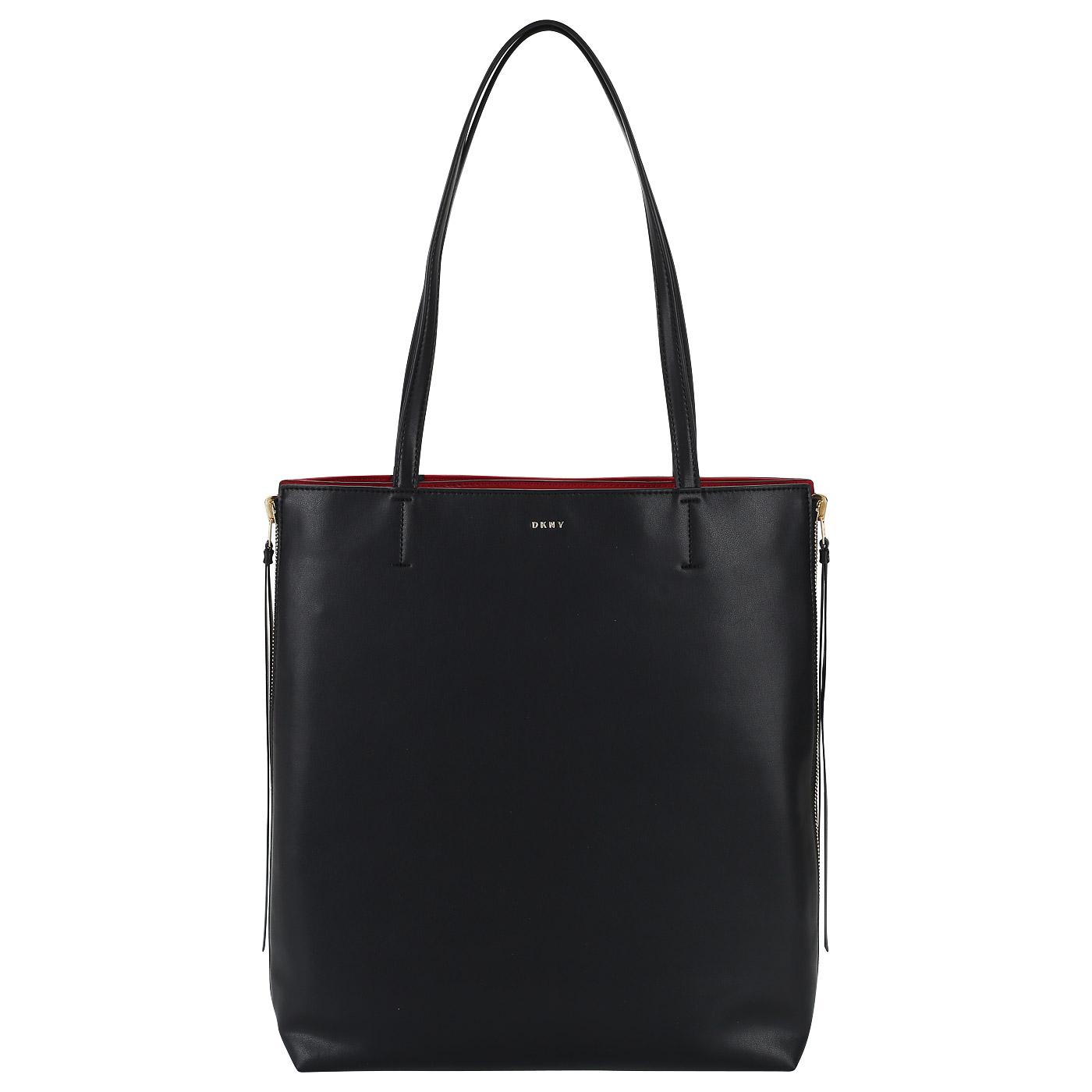 5a2481010ebd Двусторонняя сумка-тоут из натуральной кожи DKNY Mey R82BW490-BGD ...